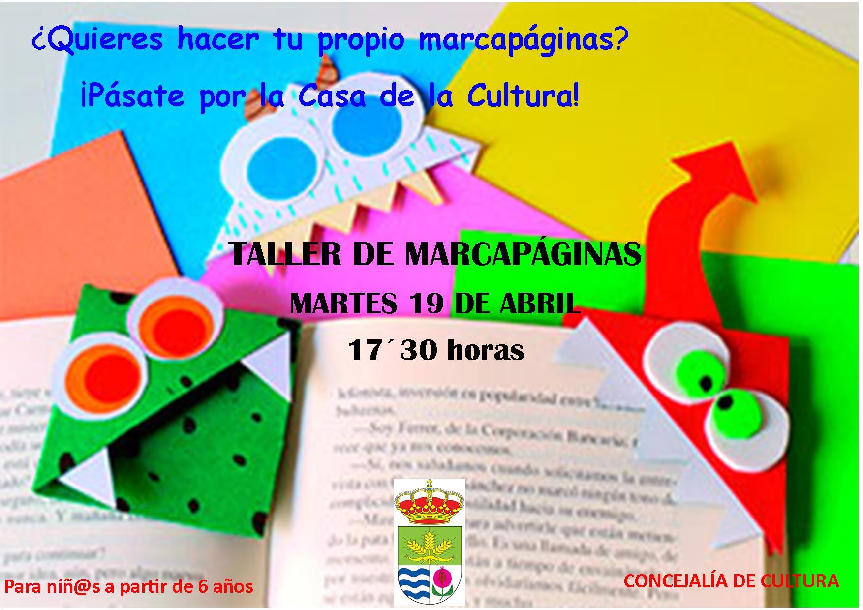 TALLER DE MARCAPÁGINAS