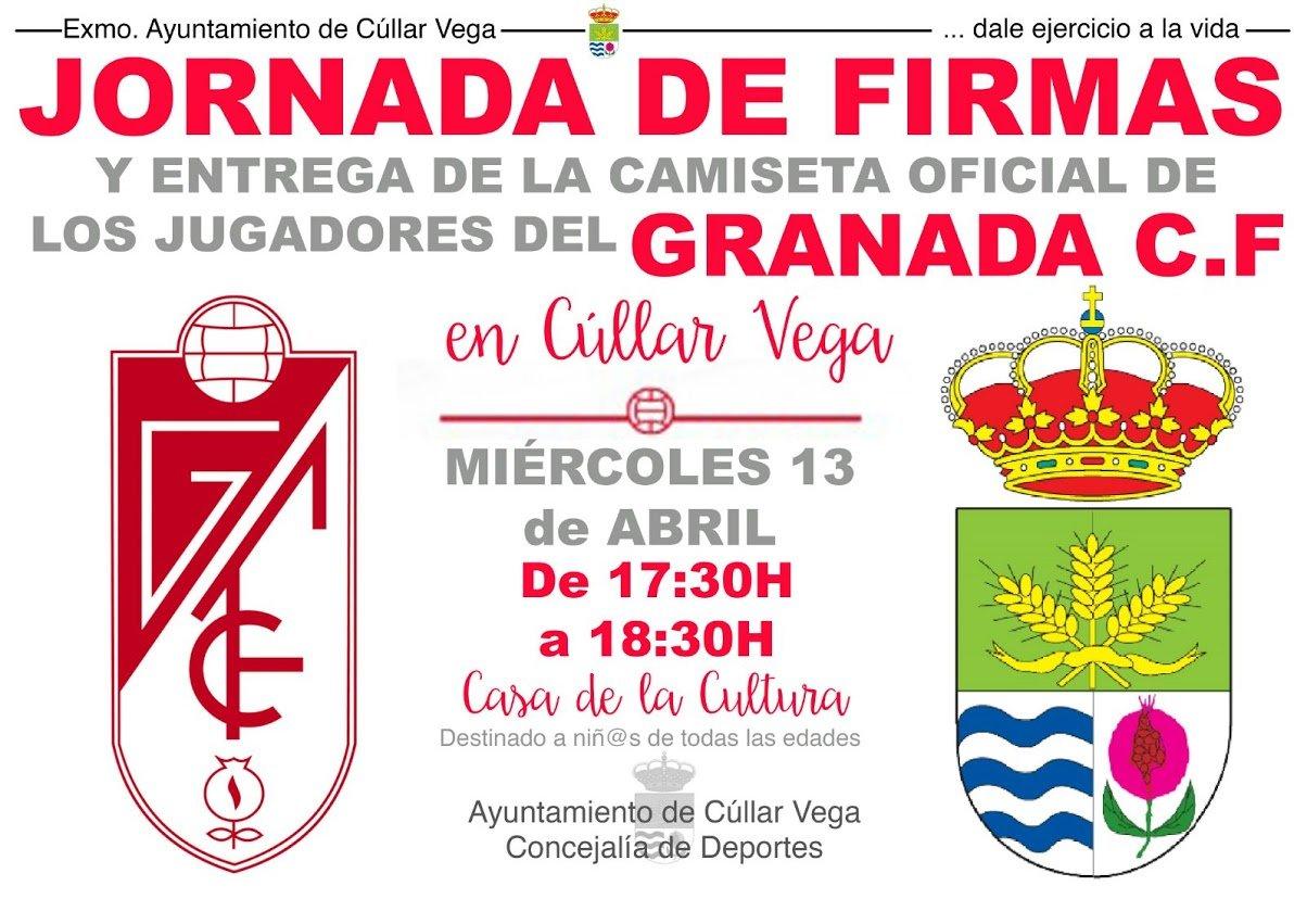 Jornada de Firmas del Granada CF en Cúllar Vega