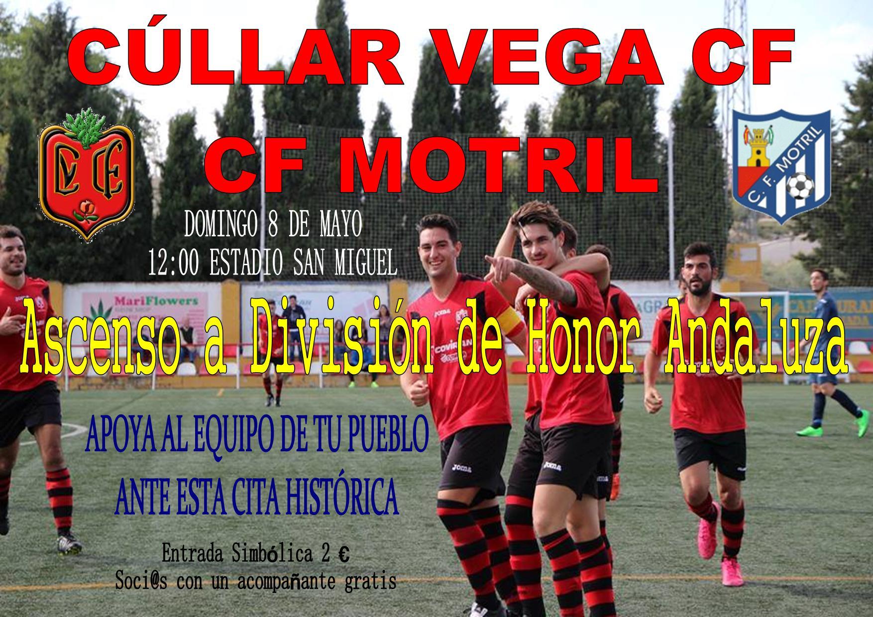 El Cúllar Vega CF puede ascender este Domingo