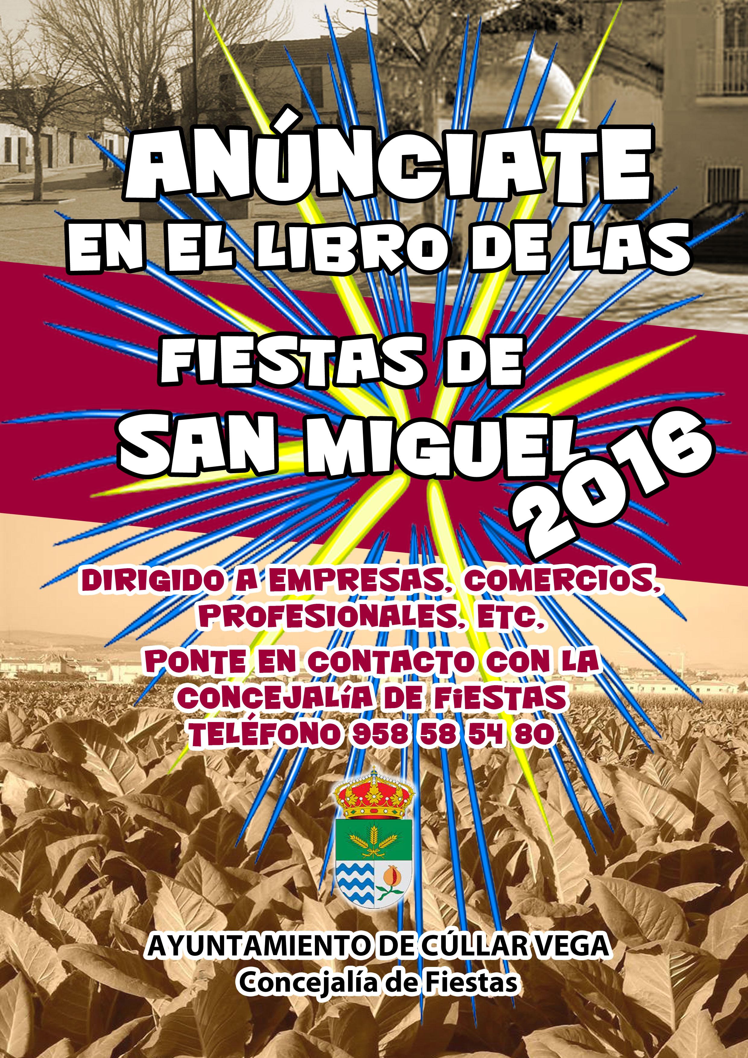 Anúnciate en el Libro de las Fiestas 2016