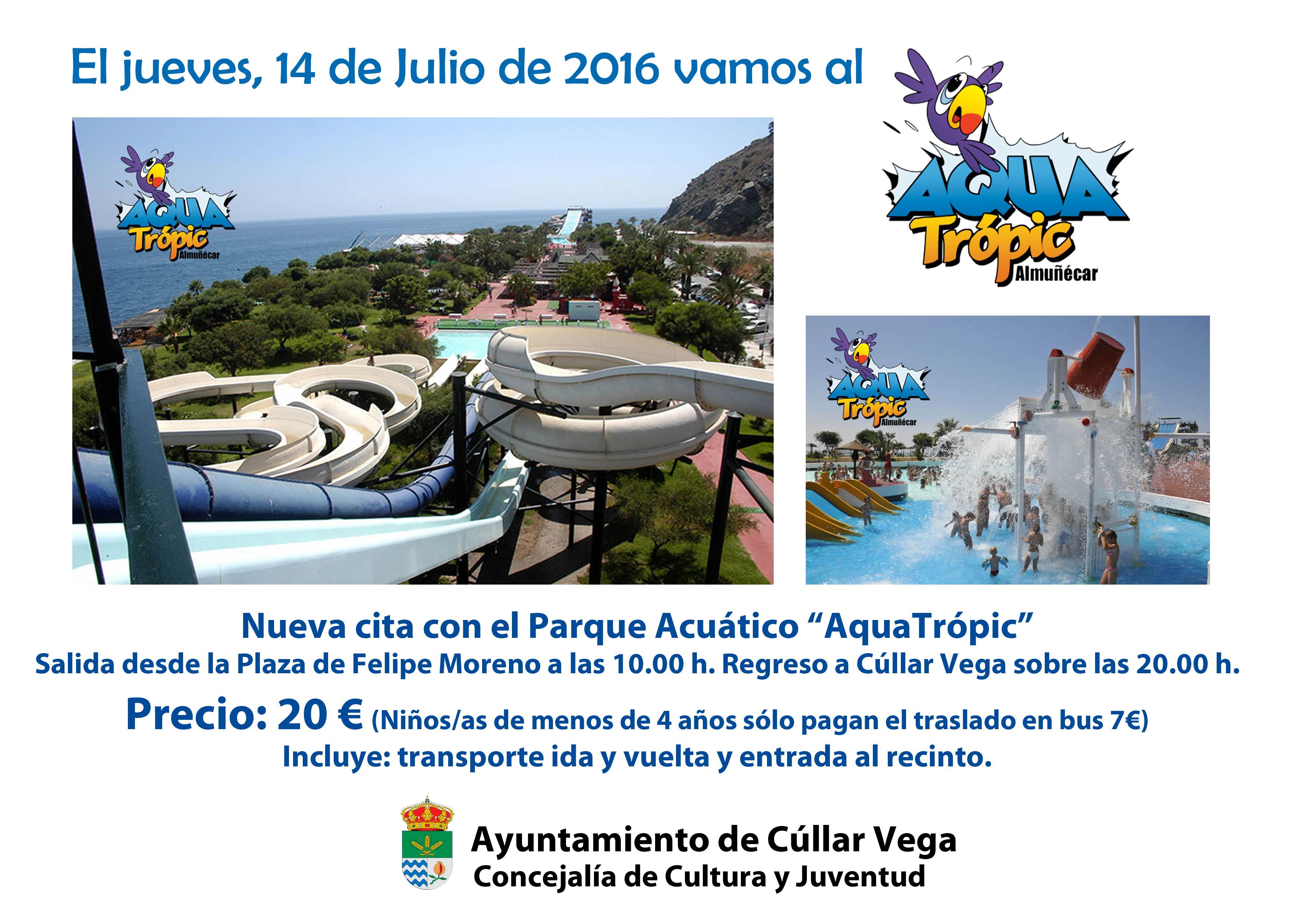 Excursión al Parque Acuático Aquatropic de Almuñecar