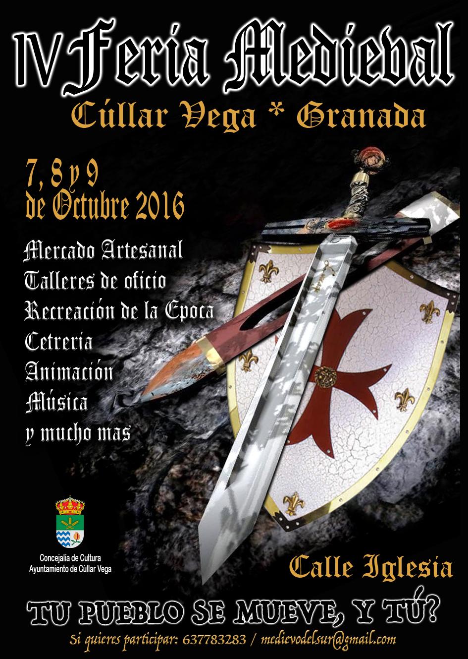 7,8 y 9 Octubre: IV Feria Medieval de Cúllar Vega