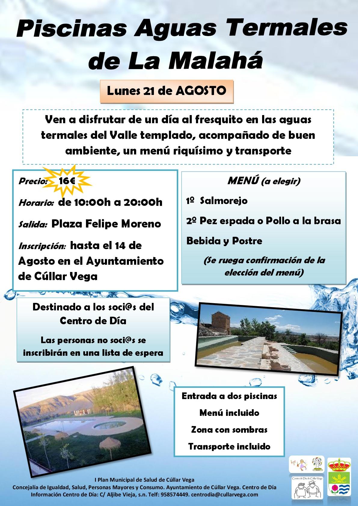 Viaje Piscina Aguas Termales de La Malahá