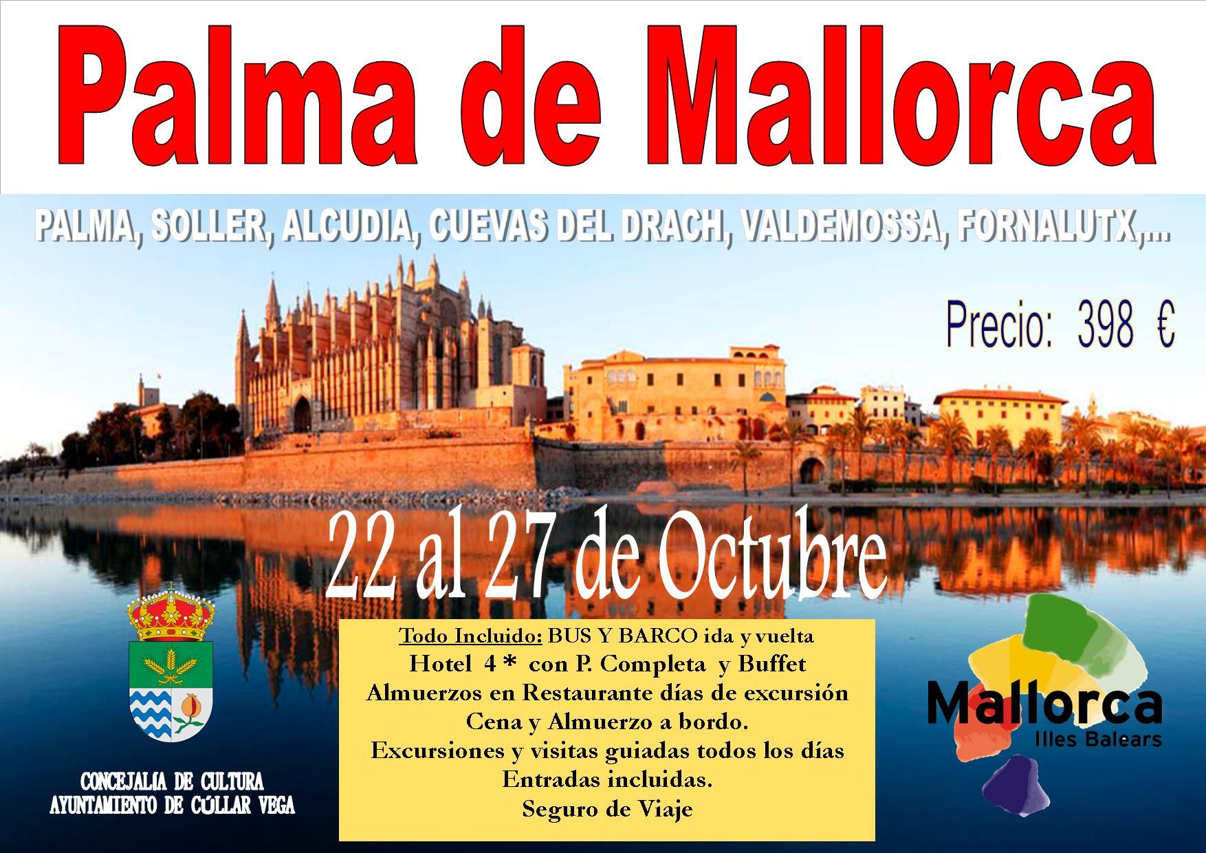 Viaje Palma de Mallorca 22 al 27 de Octubre