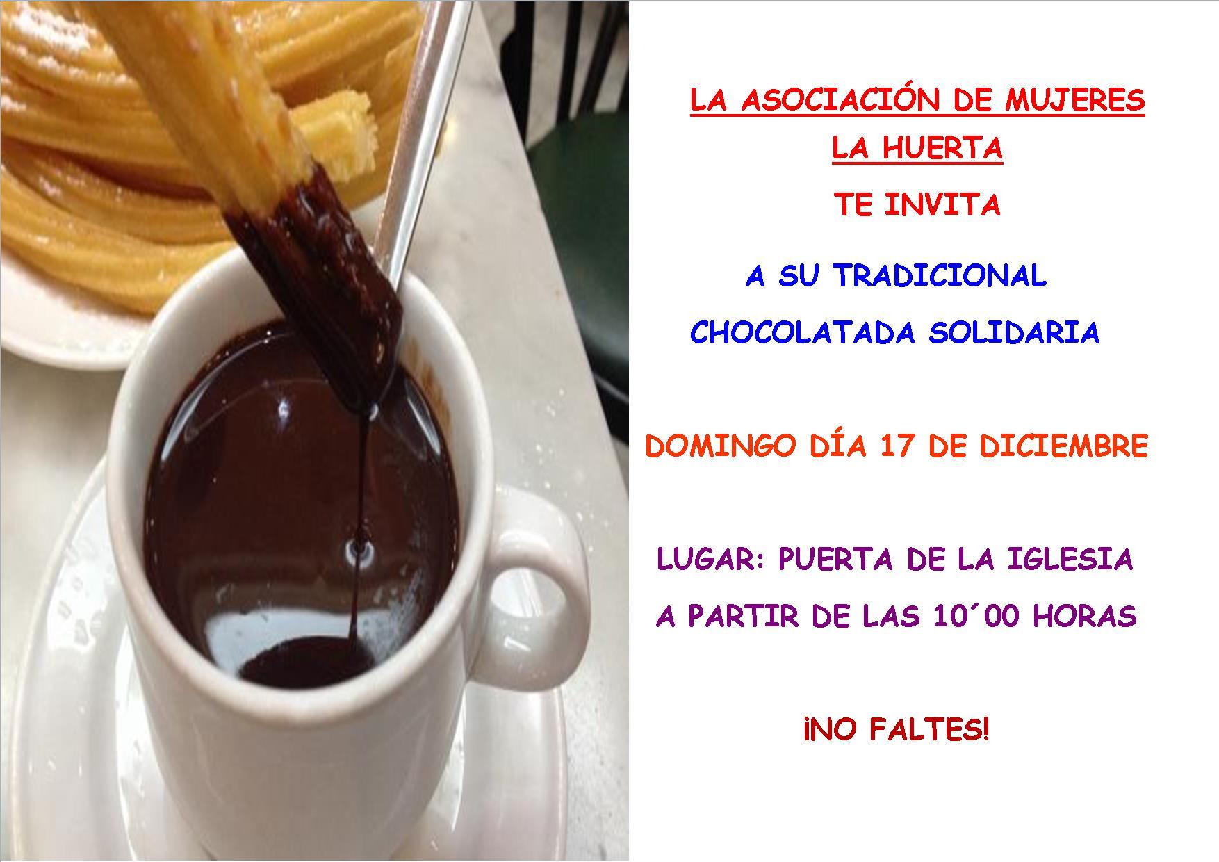 Chocolatada Solidaria organizada por la Asociación de Mujeres La Huerta
