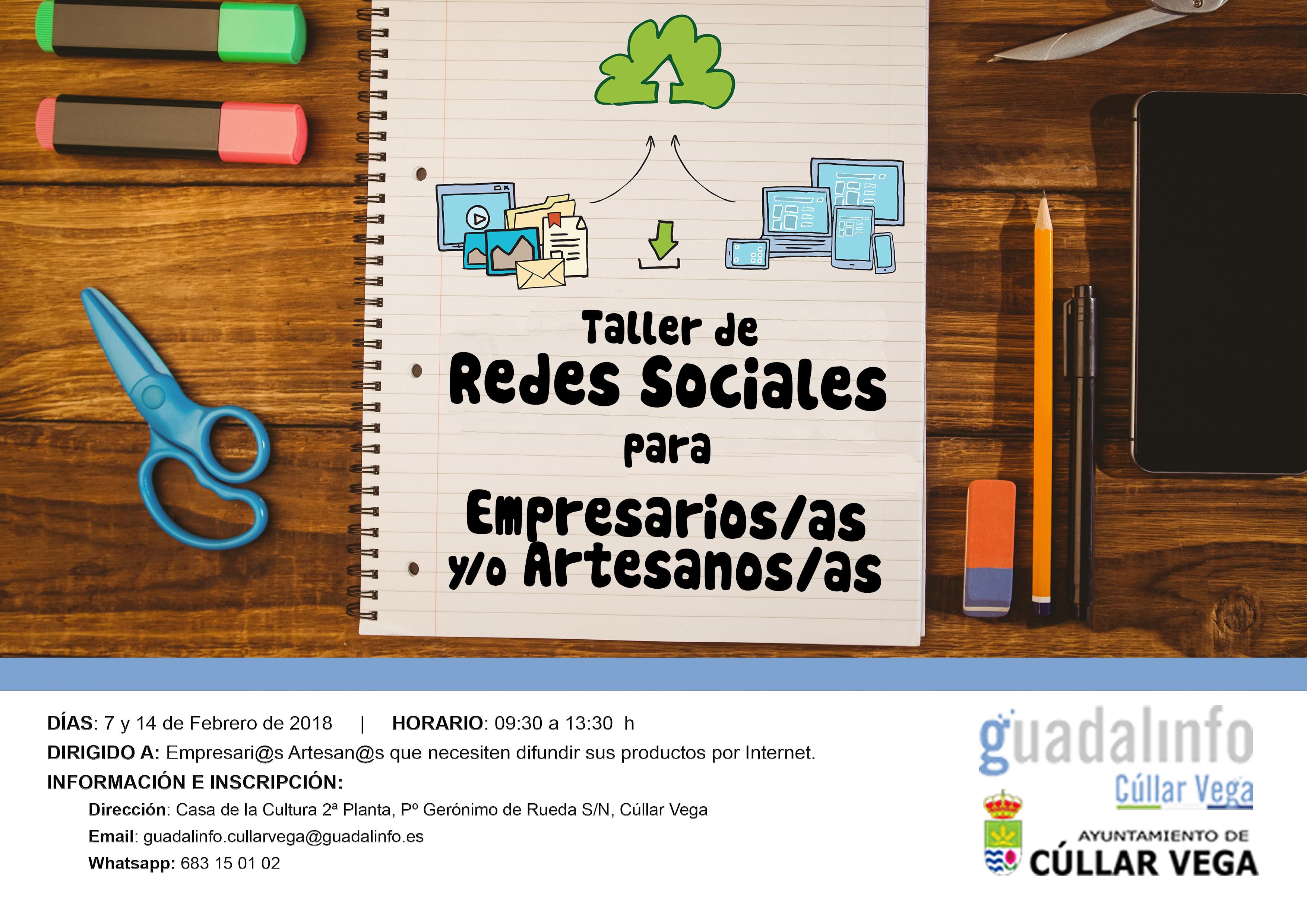 Taller de Redes Sociales para empresari@s y/o artesan@s