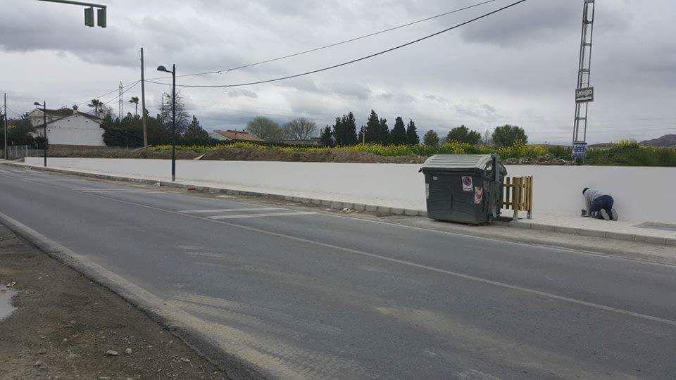 Cúllar Vega mejora las aceras y elimina barreras en la entrada al municipio y El Ventorrillo