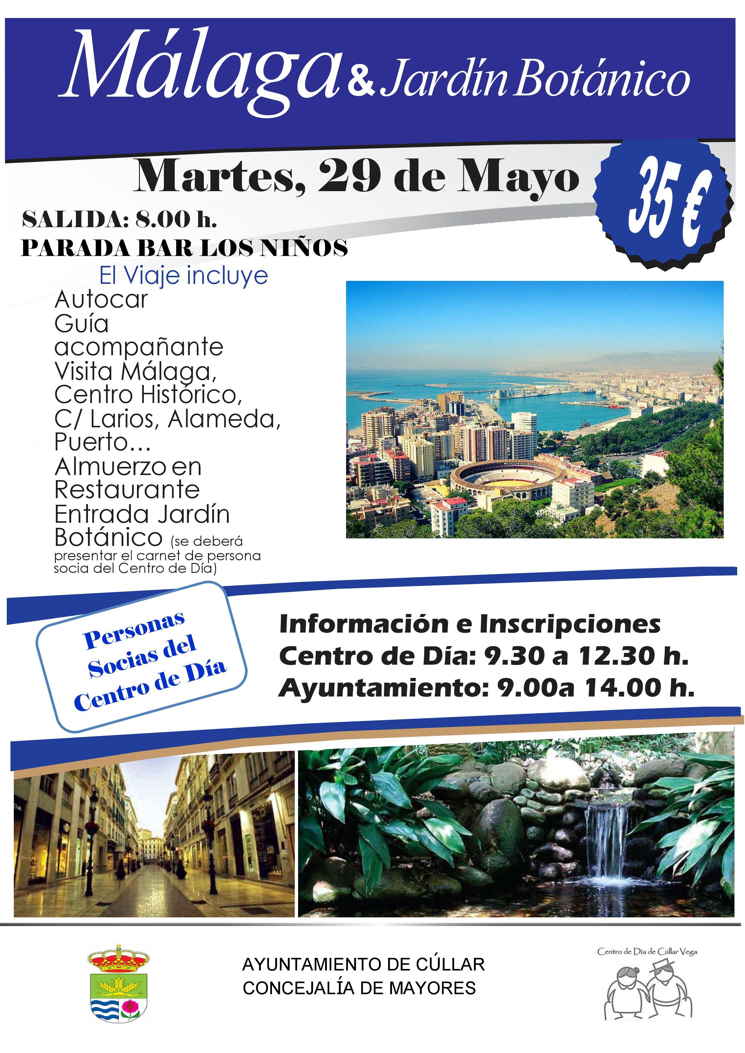 Viaje a Málaga y Jardín Botánico para Soci@s del Centro de Día