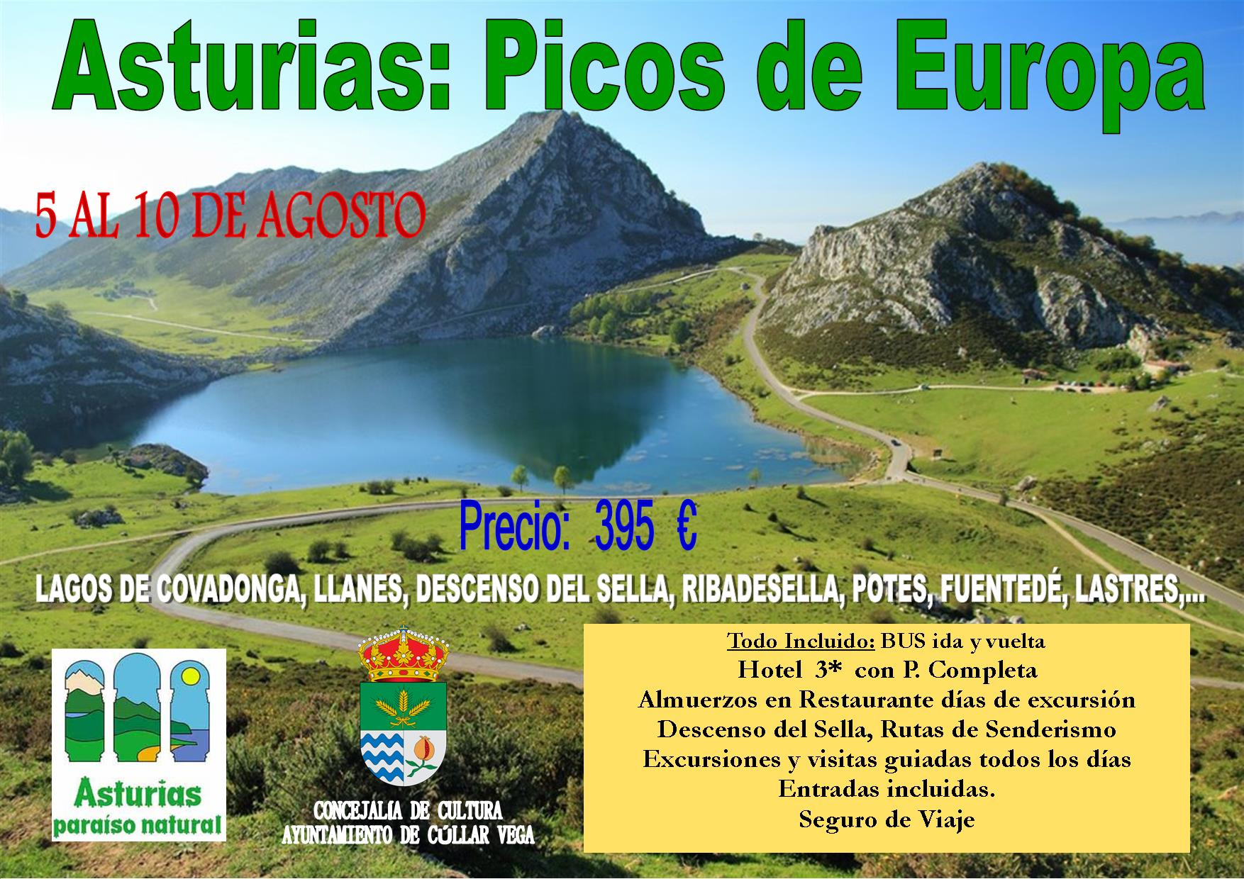Viaje a Asturias: Picos de Europa del 5 al 10 de Agosto de 2018