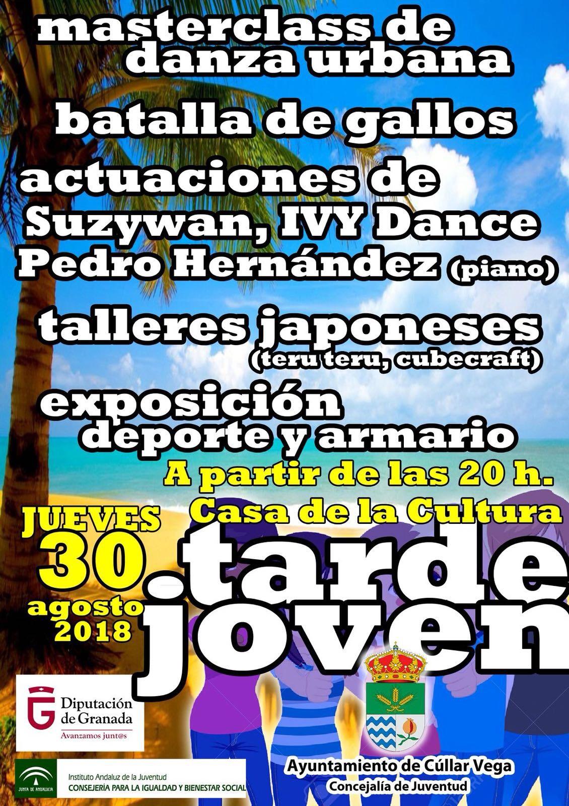 Talleres manga, danza urbana y música en directo protagonizarán la Tarde Joven de Cúllar Vega