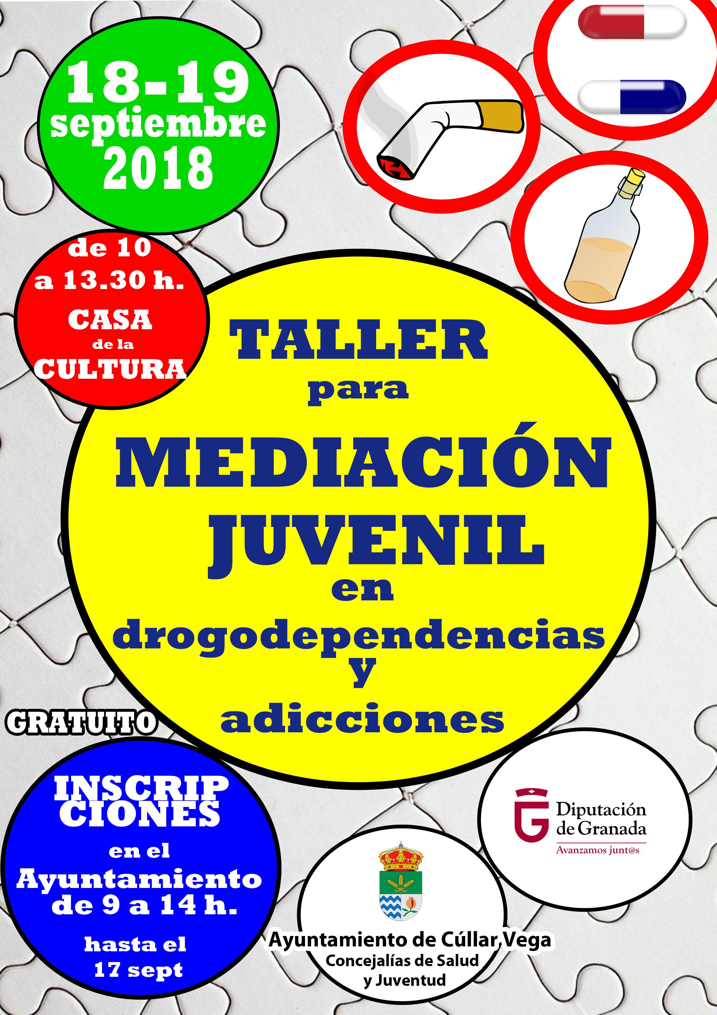 Taller para Mediación Juvenil en drogodependencias y adicciones