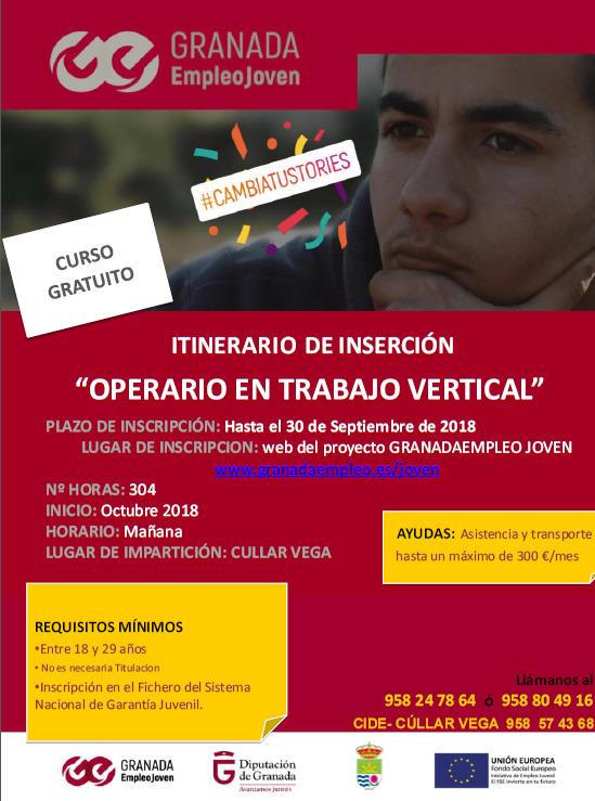 MAÑANA 10 DE OCTUBRE SESIÓN INFORMATIVA ITINERARIO DE INSERCIÓN