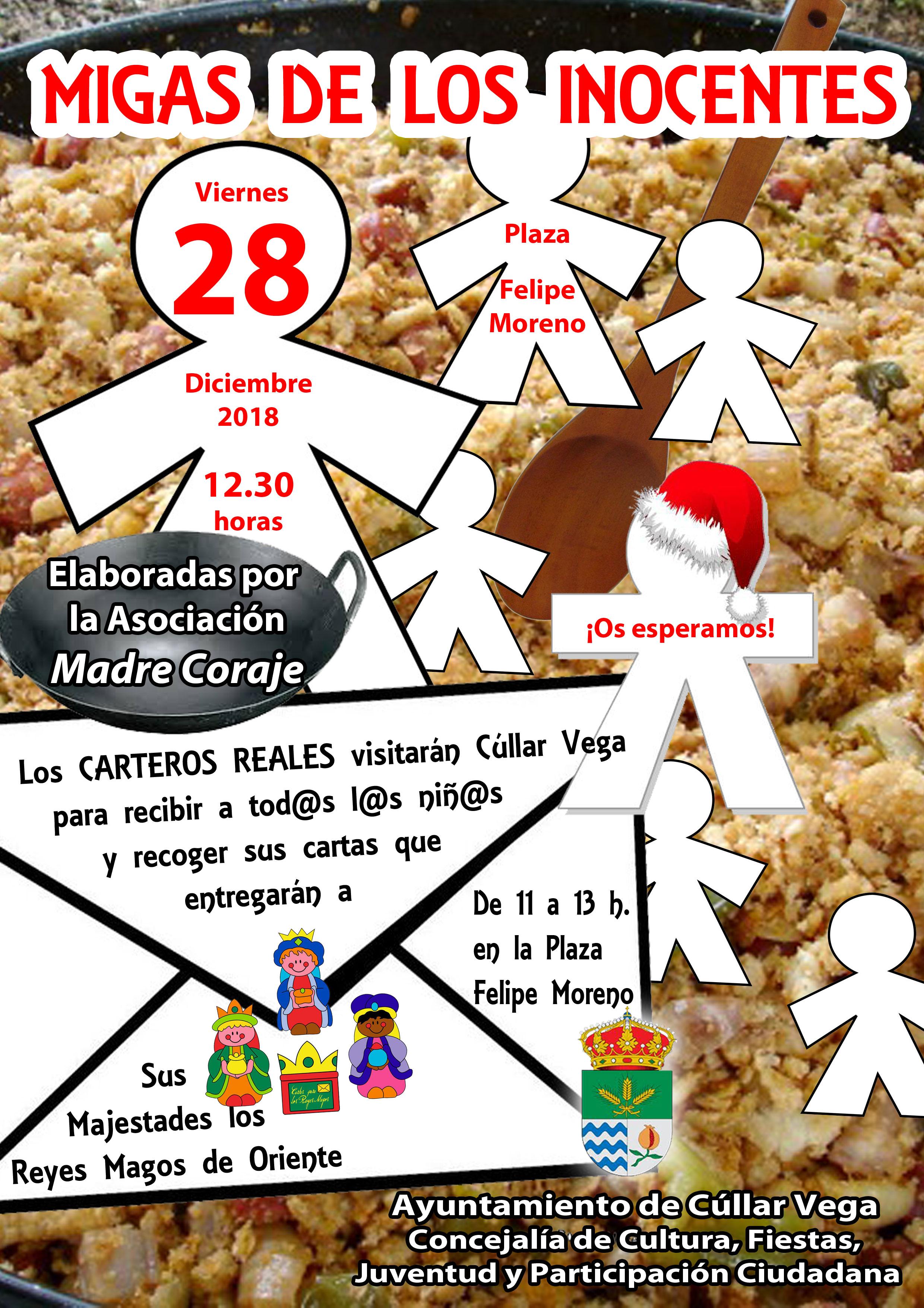 Migas de Los Santos Inocentes y Visita de Los Carteros Reales