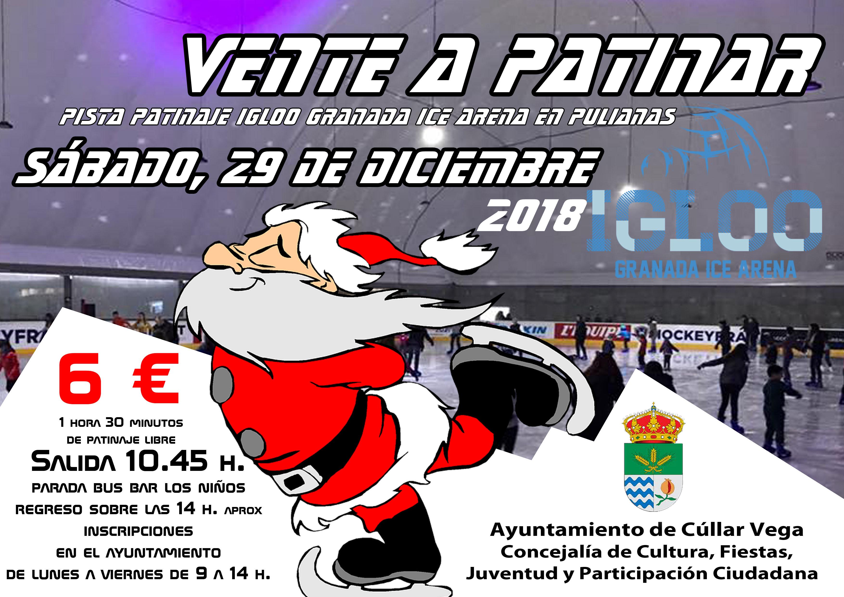 Vente a patinar a Igloo Granada de Pulianas