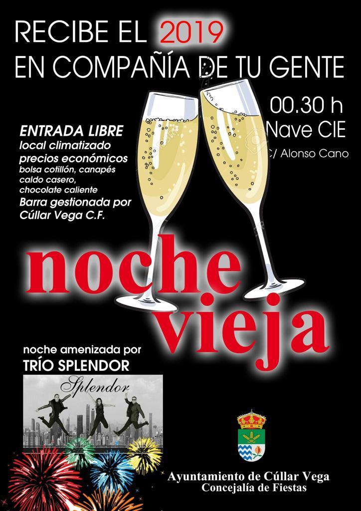Fiesta de Nochevieja para recibir el 2019 en Cúllar Vega