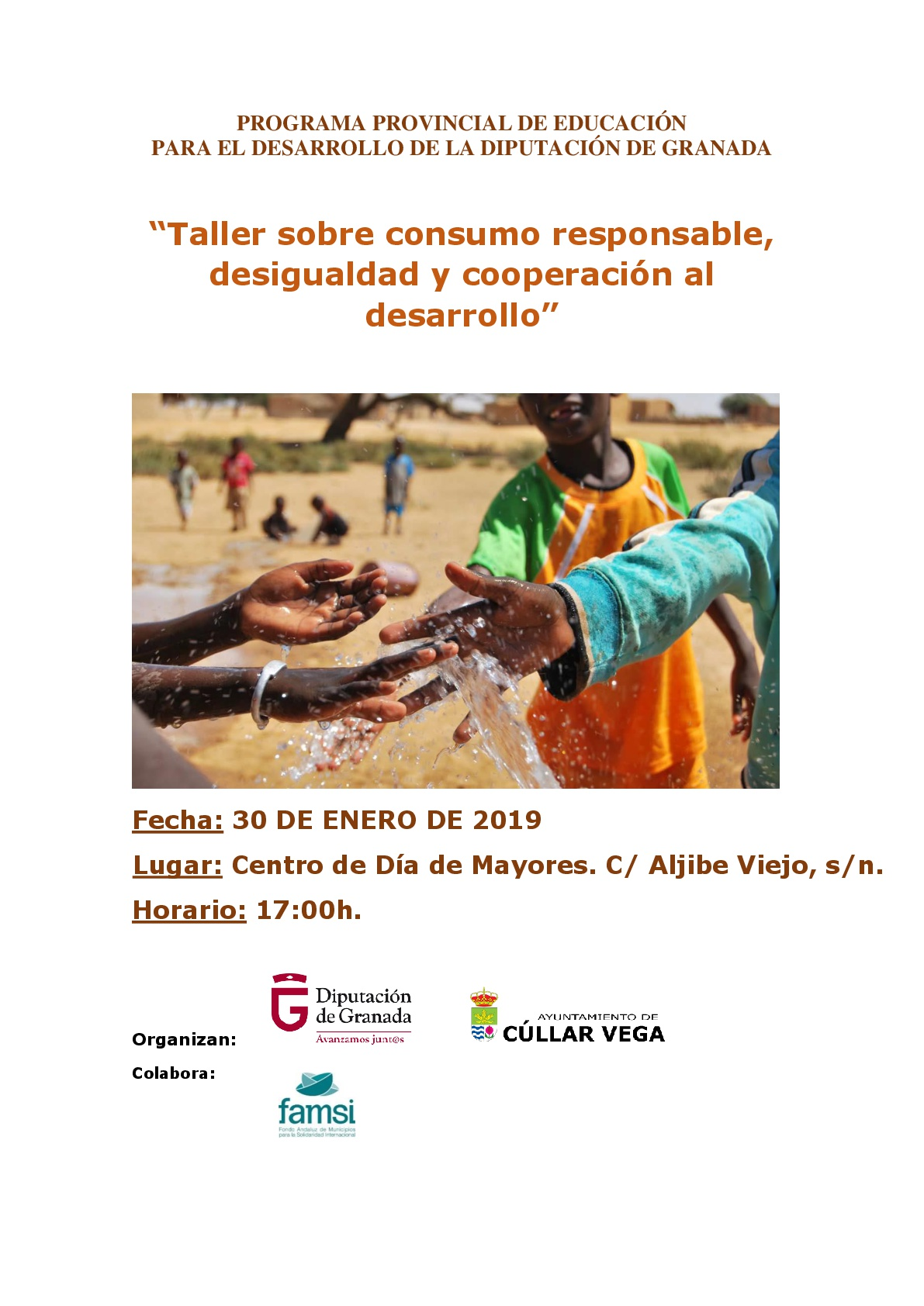 Taller sobre consumo responsable, desigualdad y cooperación al desarrollo en el Centro de Día