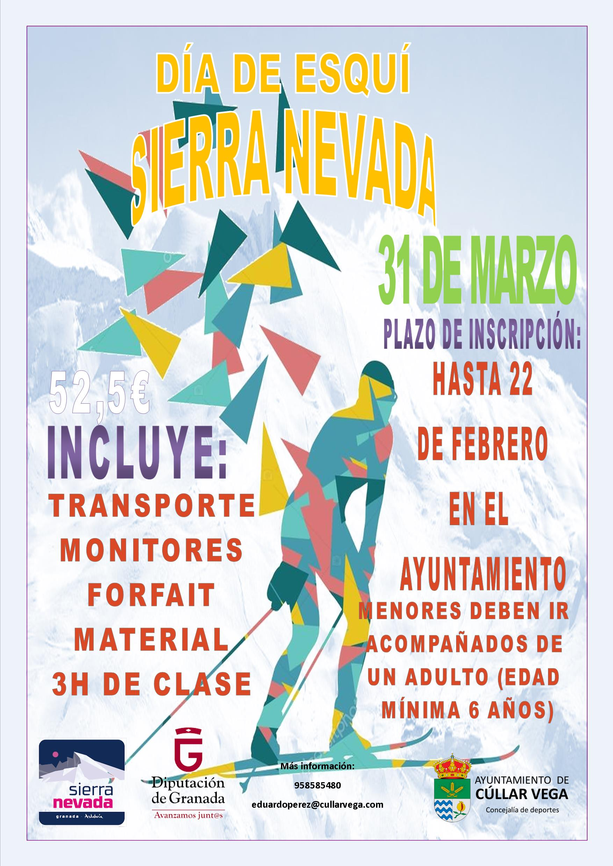 DÍA DE ESQUÍ EN SIERRA NEVADA (31 DE MARZO)