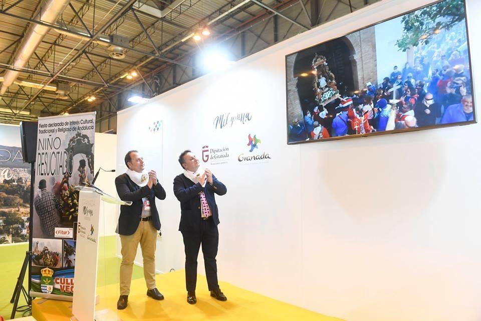 Cúllar Vega asiste por primera vez a FITUR para promocionar su 'Procesión de los  petardos'