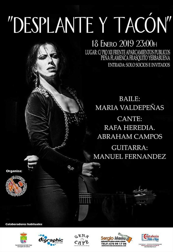 Primera Actuación del año en la Peña Flamenca Frasquito Yerbabuena