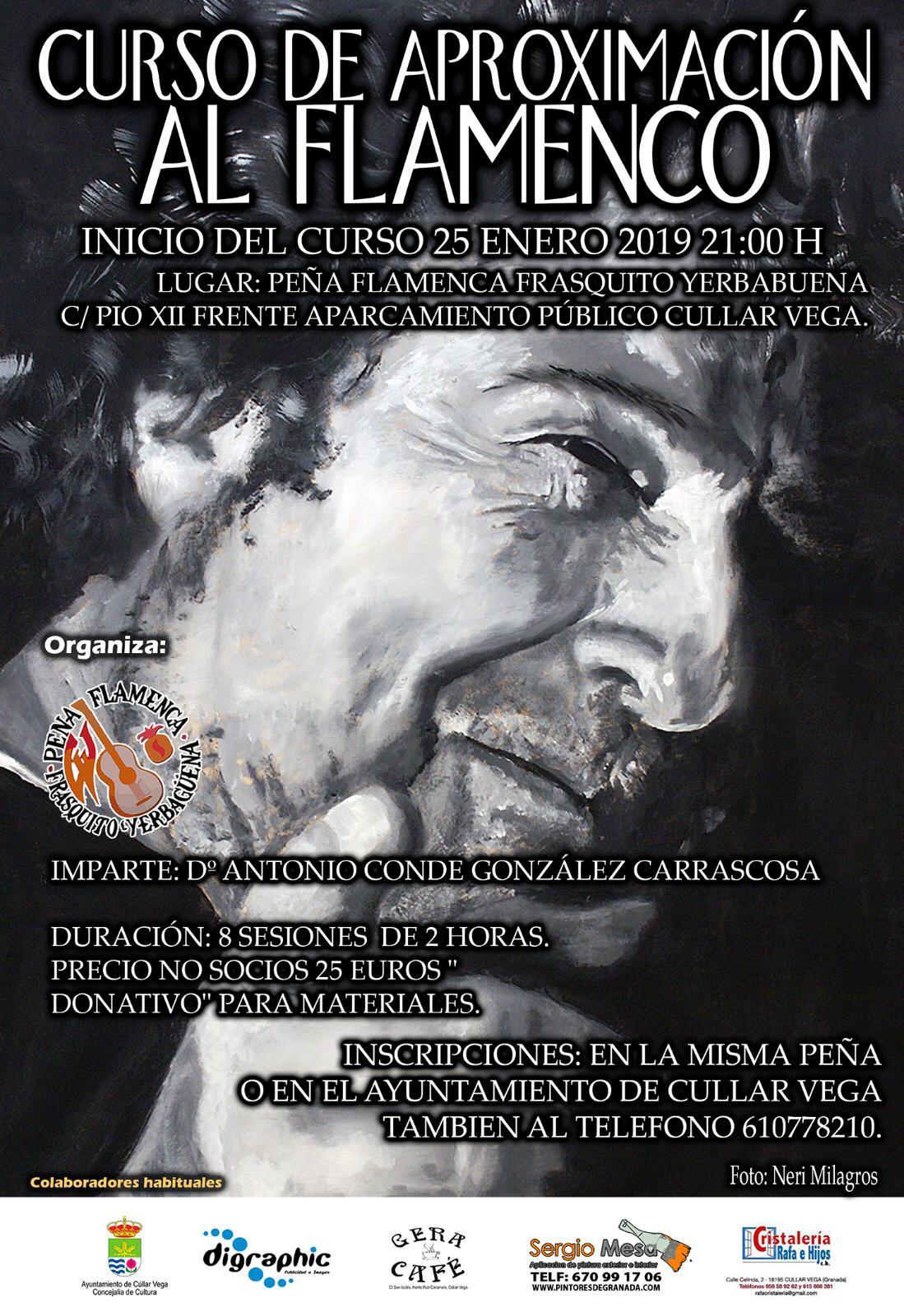 Cúllar Vega organiza un curso de iniciación al flamenco en la Peña Flamenca Frasquito Yerbabuena