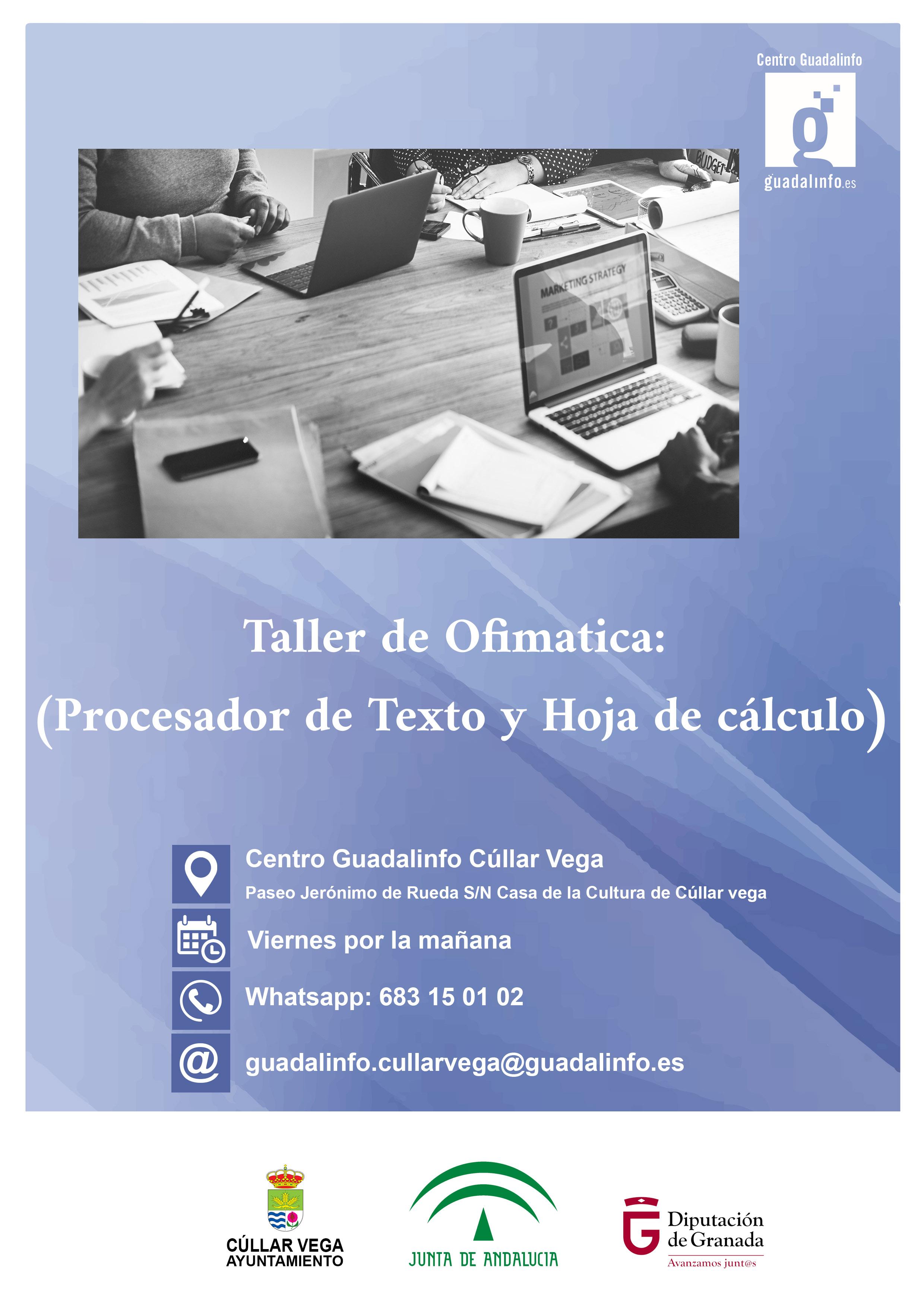 Proximo Taller de Ofimática en Guadalalinfo