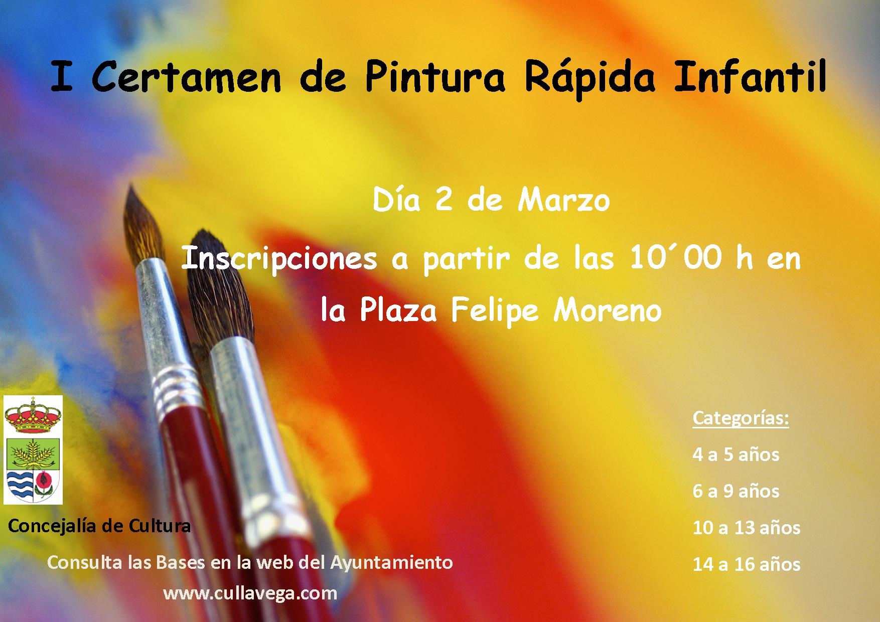 Aplazado el I Certamen de Pintura rápida Infantil y Juvenil de Cúllar Vega al 2 de Marzo