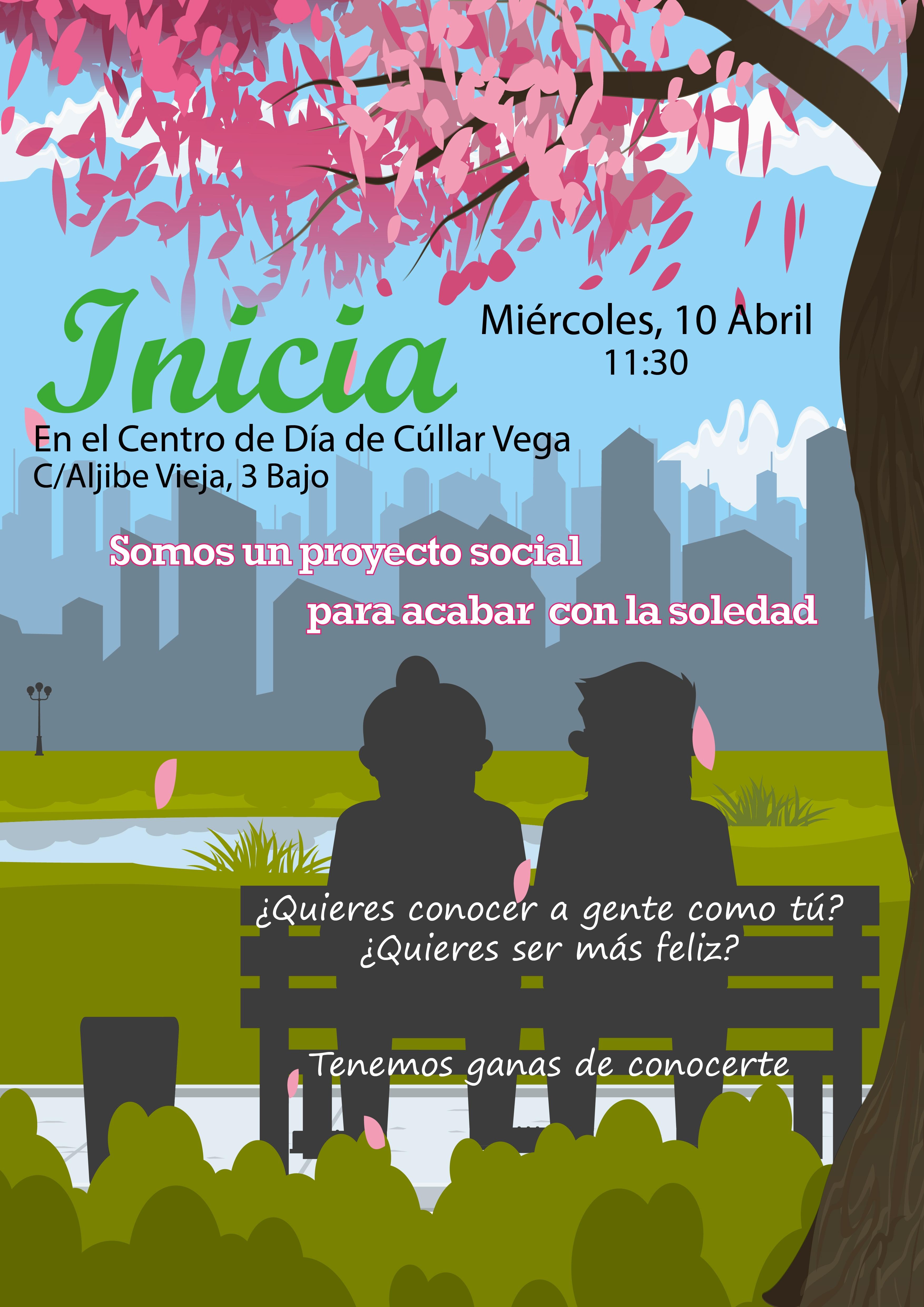 Presentación de Inicia, un proyecto social para acabar con la soledad de los mayores