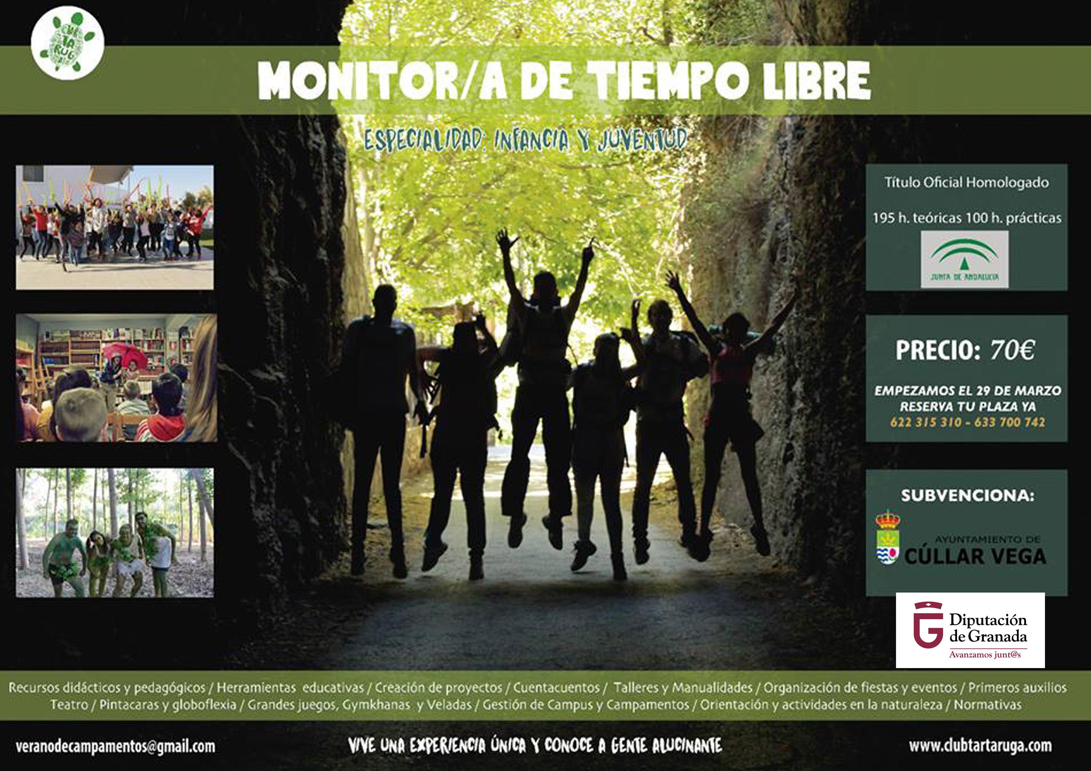Curso oficial de Monitor de tiempo Libre (especialidad Infantil y Juventud)