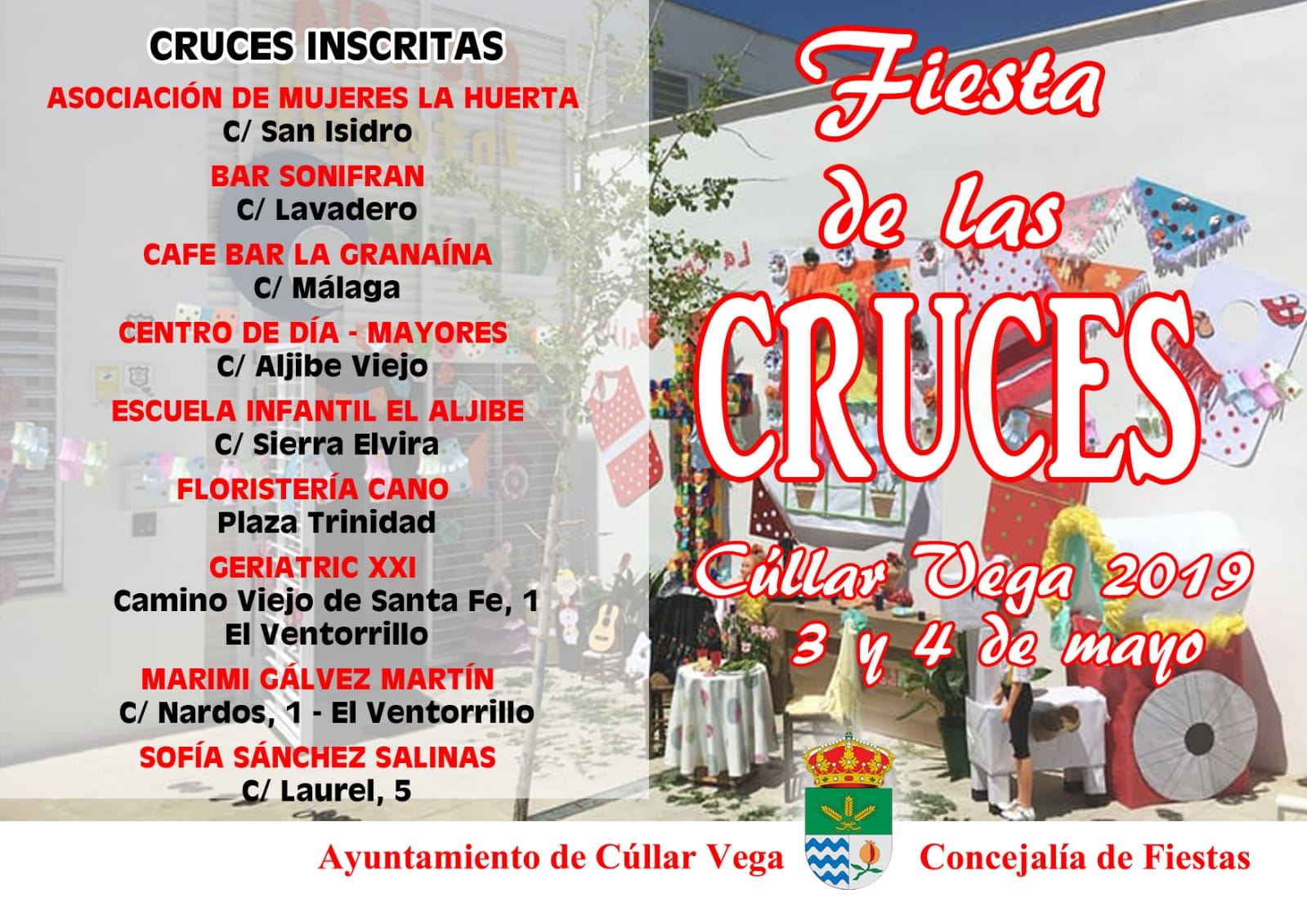 Emplazamiento Cruces de Mayo 2019