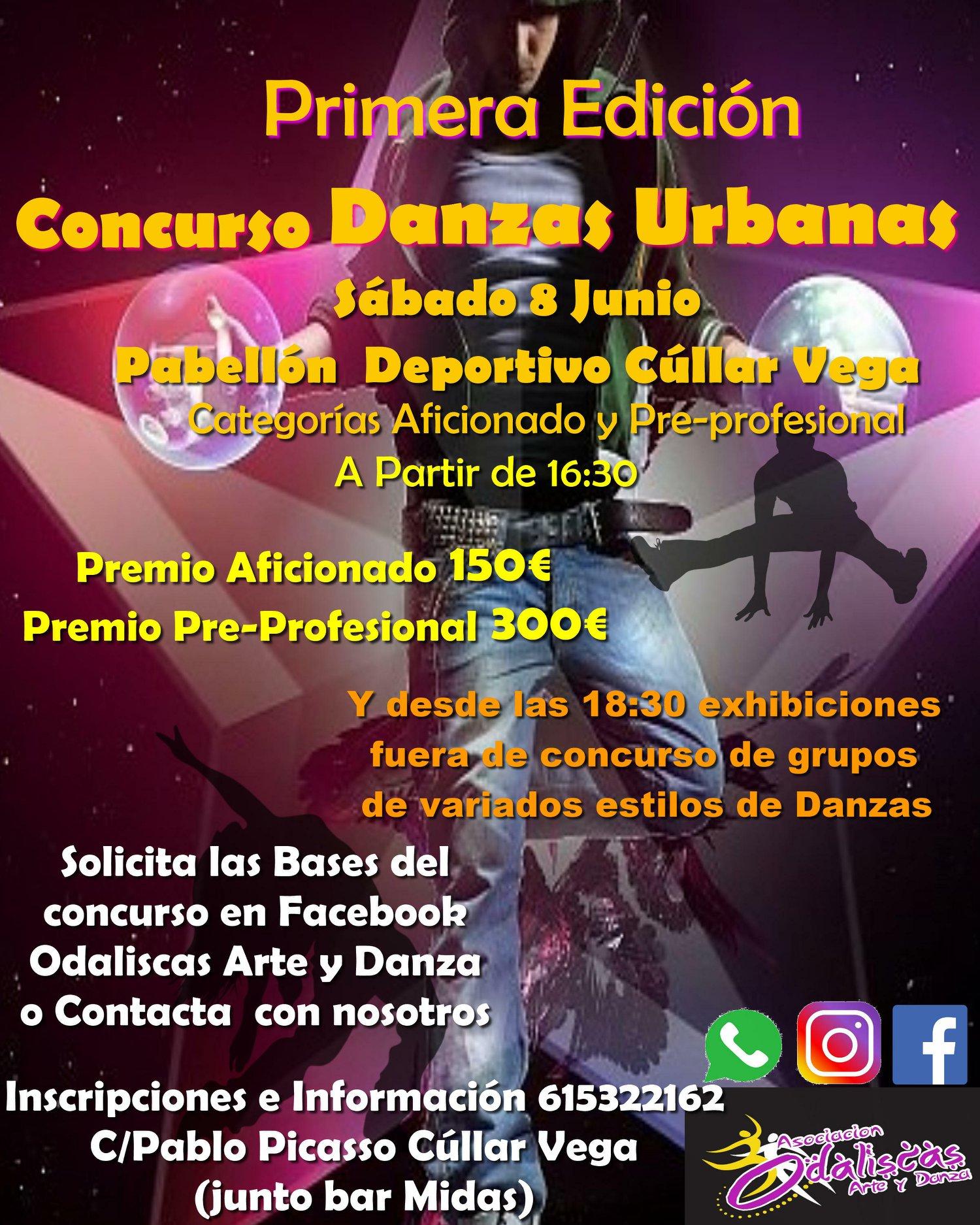 Aficionados al funky y al hip-hop participarán en el I Concurso de Danzas Urbanas de Cúllar Vega