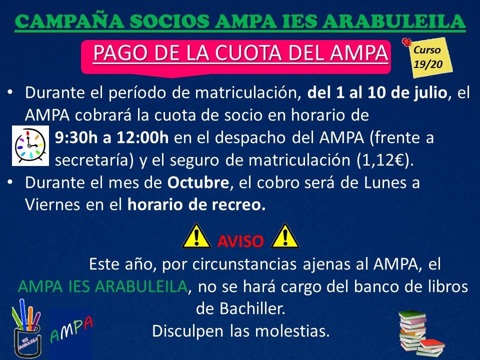 Campaña Soci@s Ampa IES Arabuleila