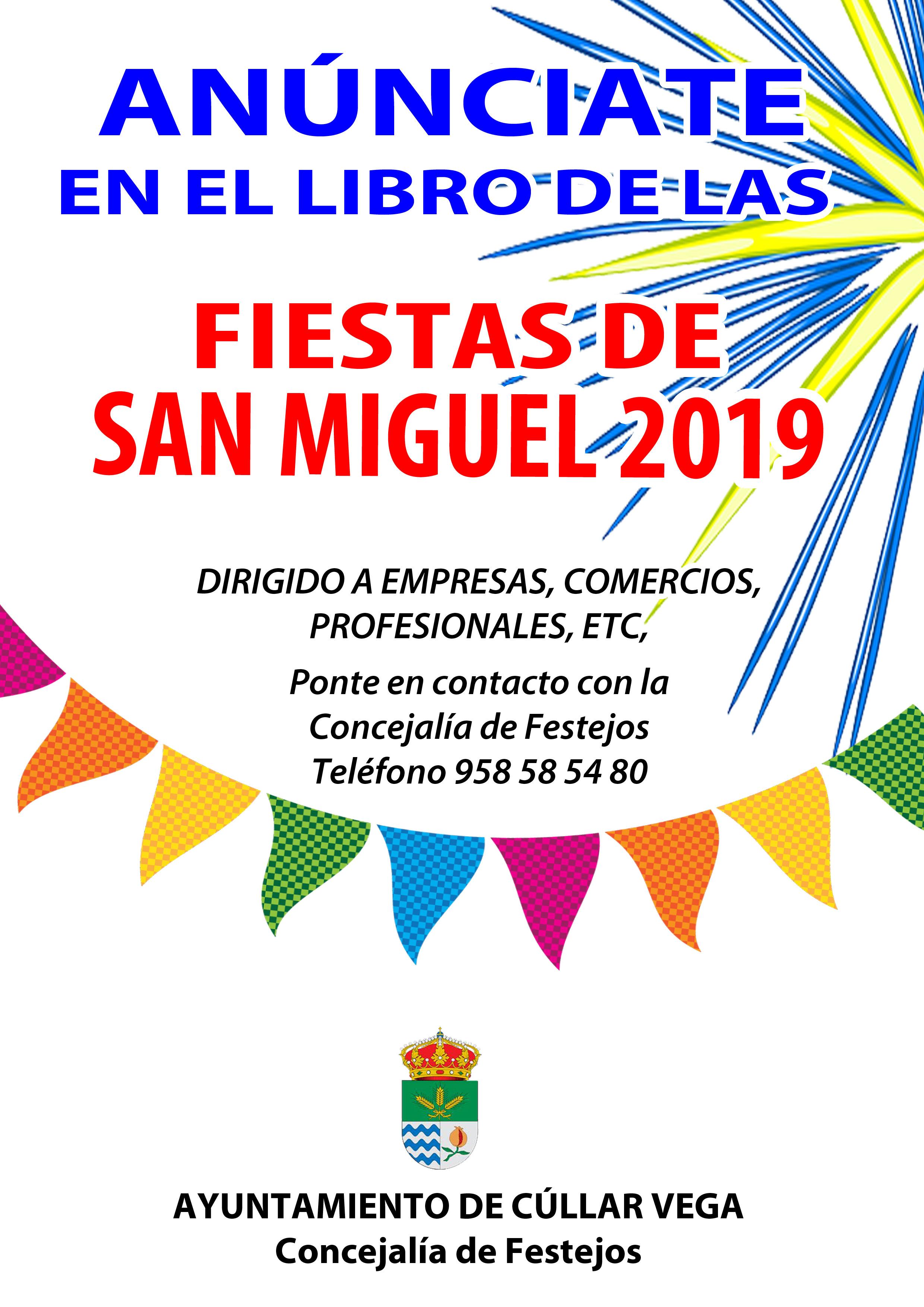 Anúnciate en el Libro de las Fiestas 2019
