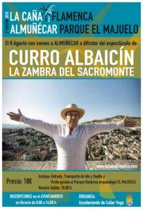 Actuación de Curro Albaicín en Almuñecar dentro del Festival La Caña Flamenca