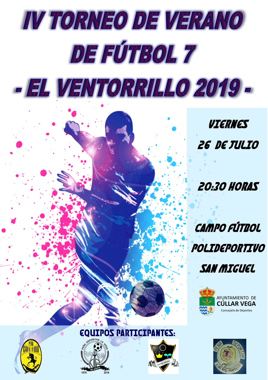 """IV Torneo de Verano de Fútbol 7 """"El Ventorrillo 2019"""""""