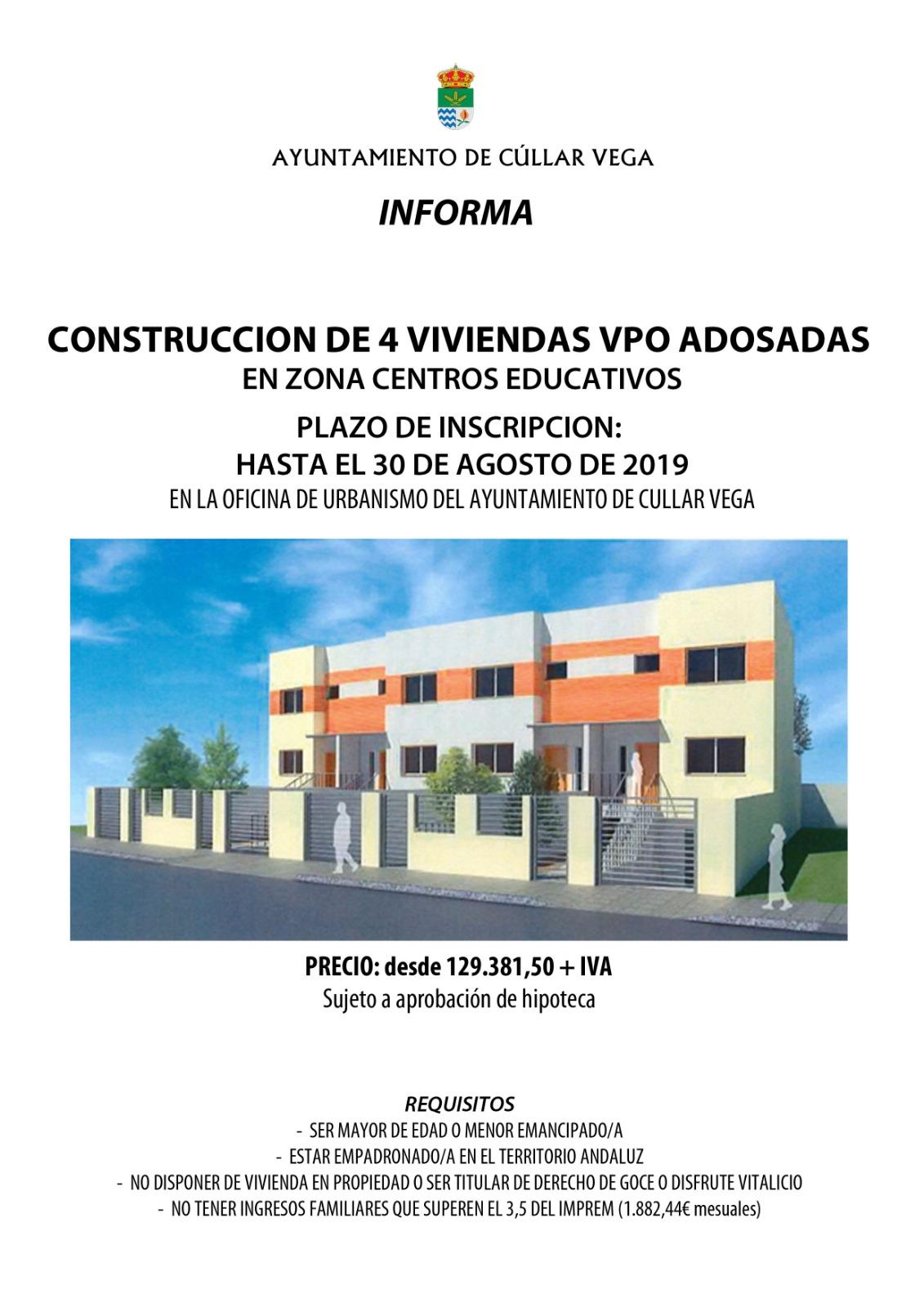 Construcción de 4 Viviendas VPO Adosadas en Cúllar Vega