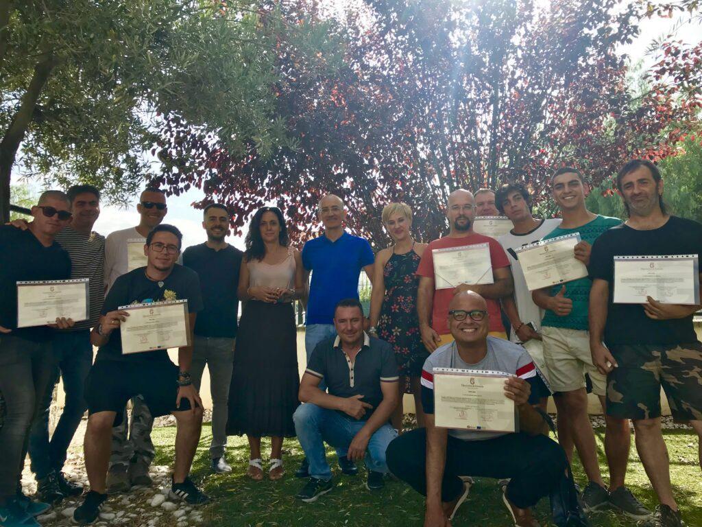 15 vecinos de Cúllar Vega aprenden un nuevo oficio gracias a un taller de trabajos en vertical y enaltura