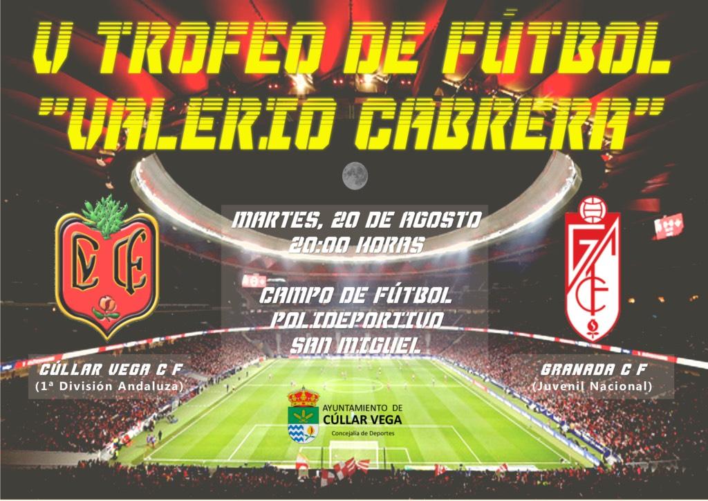 El Granada CF y el Cúllar Vega disputarán el quinto trofeo de fútbol 'Valerio Cabrera'