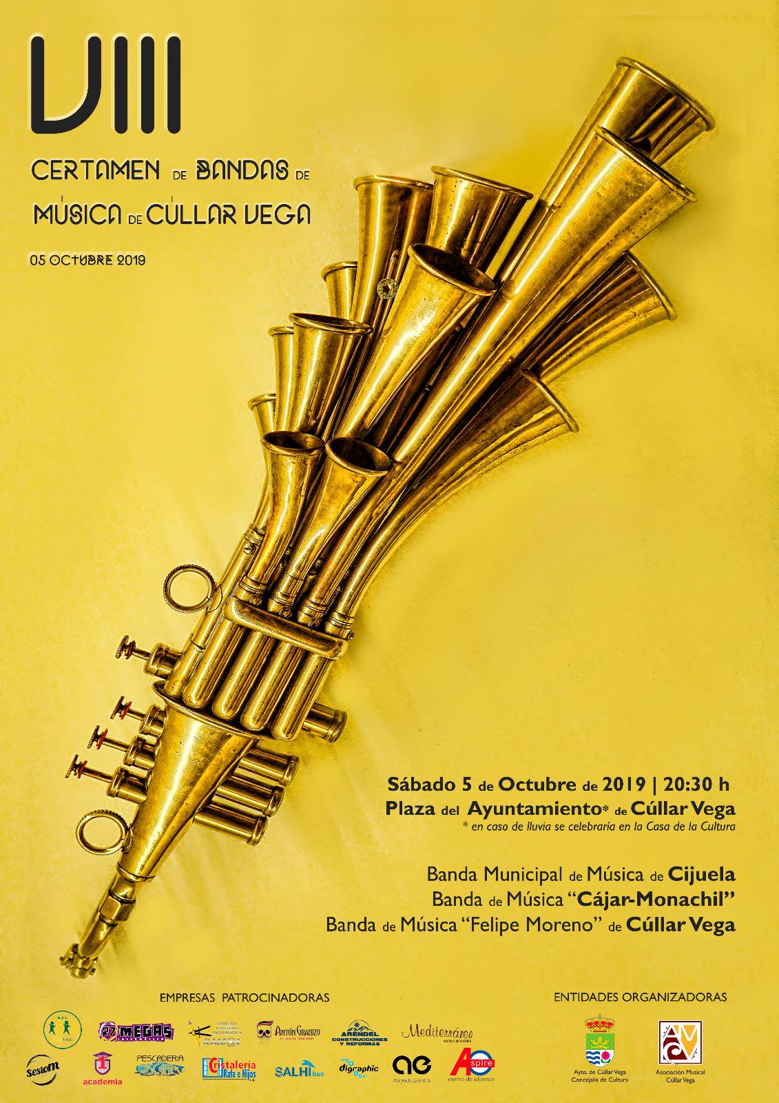 Cúllar Vega celebra este sábado su Certamen de Bandas de música, que cumple ocho años