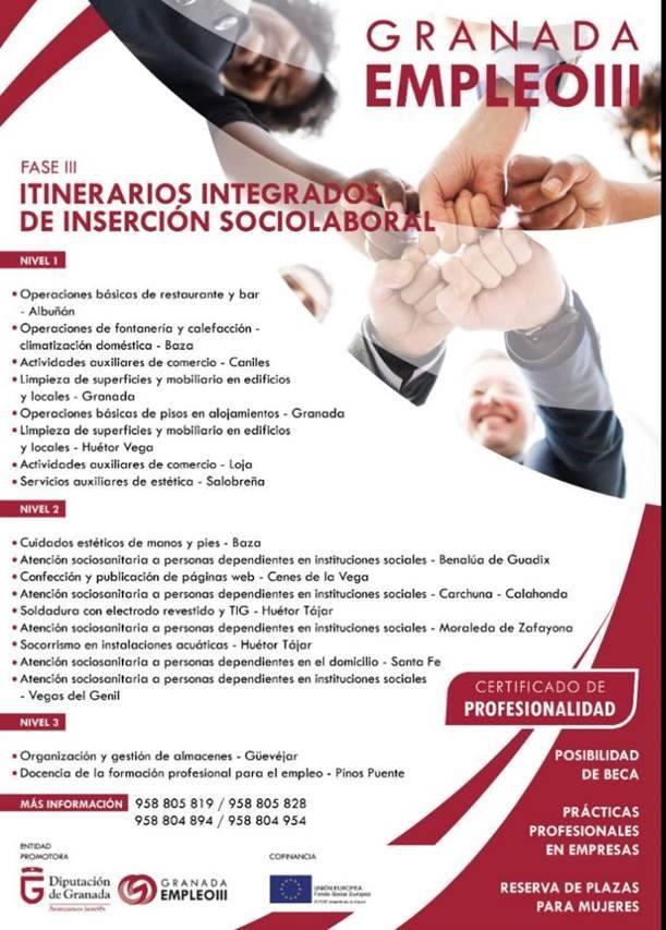 Nuevos Itinerarios de Inserción Sociolaboral Granadaempleo III
