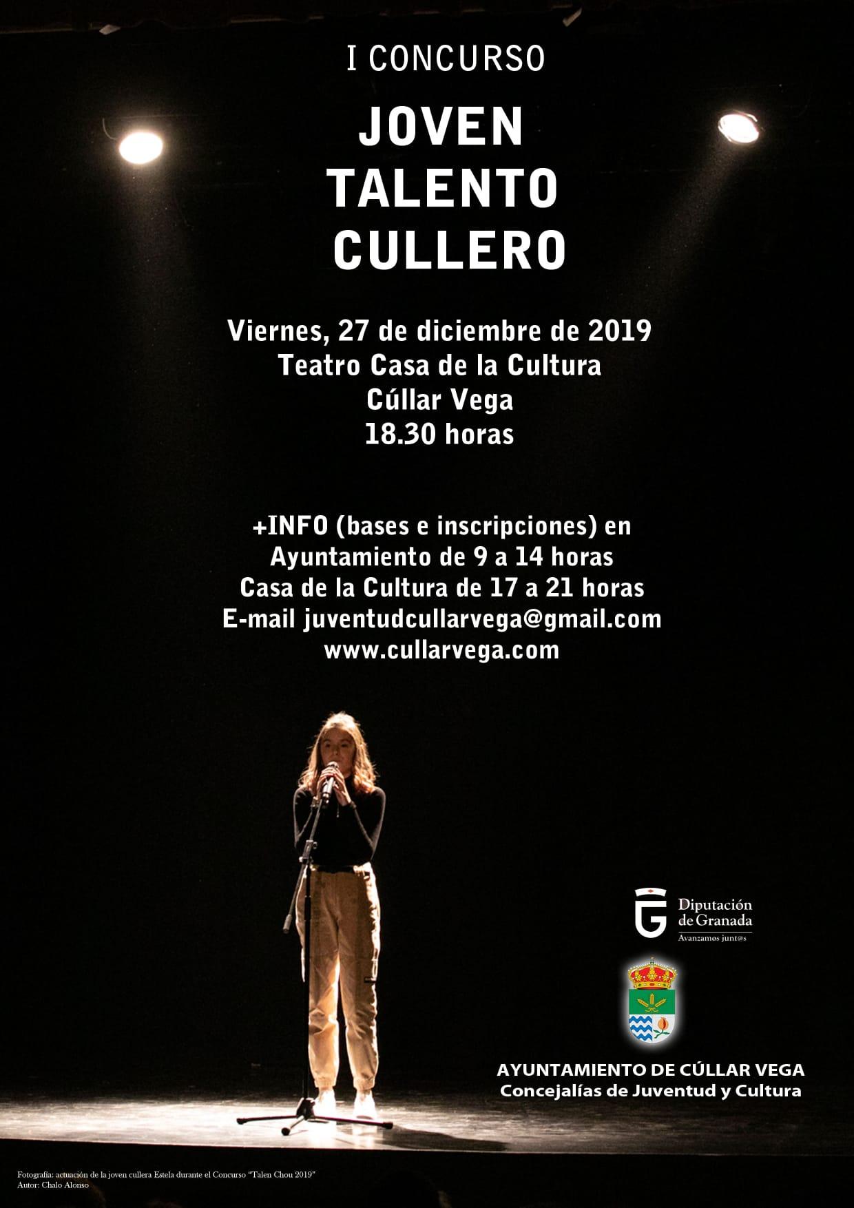 """I Concurso """"JOVEN TALENTO CULLERO – jóvenes promesas del espectáculo"""" 2019"""