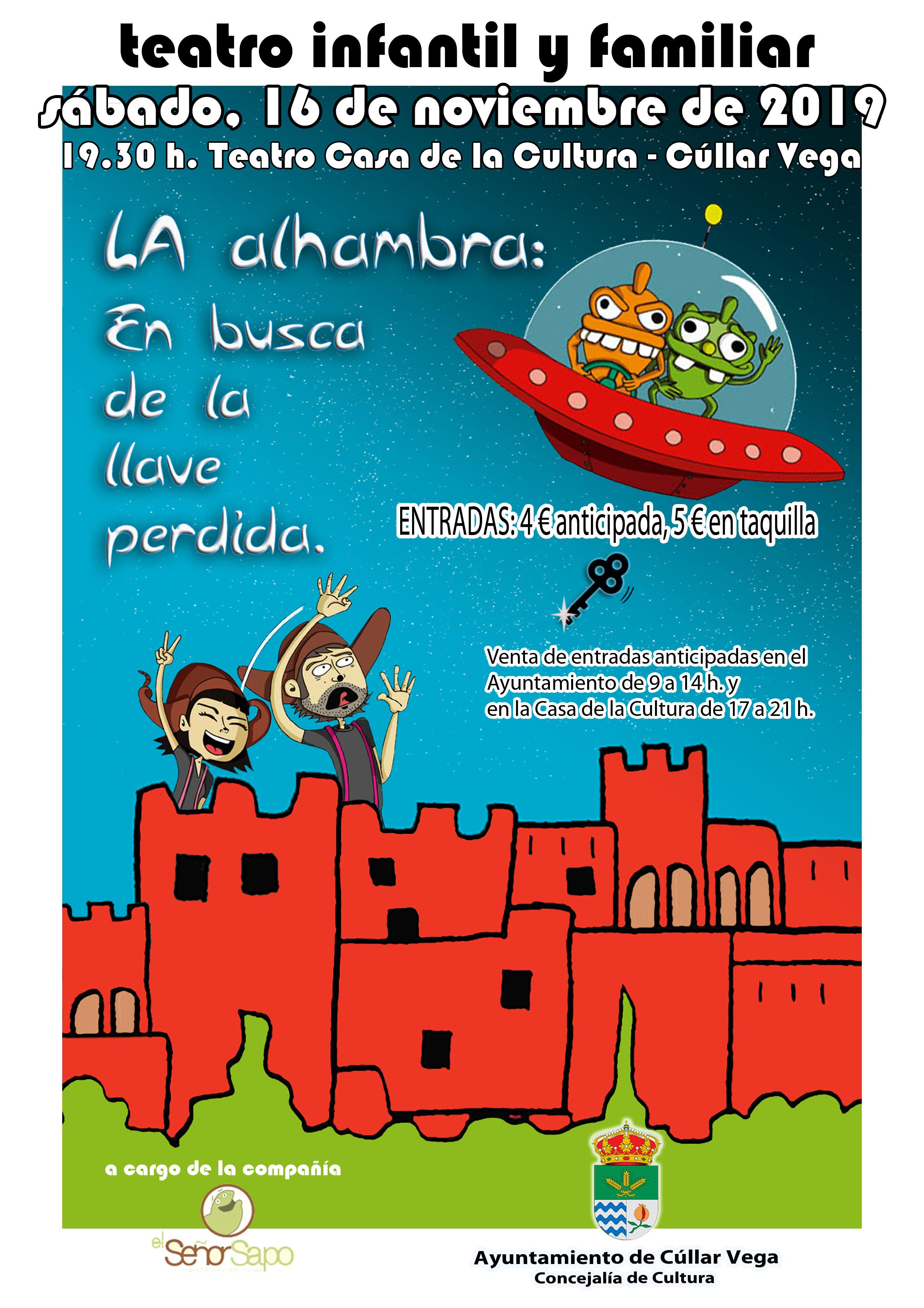 """Teatro Infantil """"La Alhambra: En busca de la llave perdida"""""""