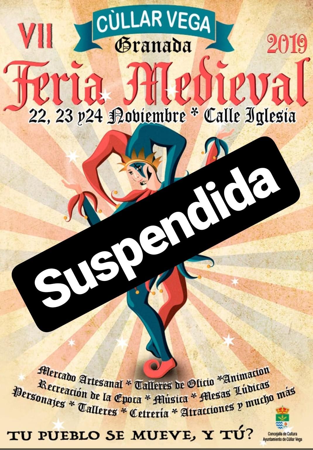Suspendida VII Feria Medieval