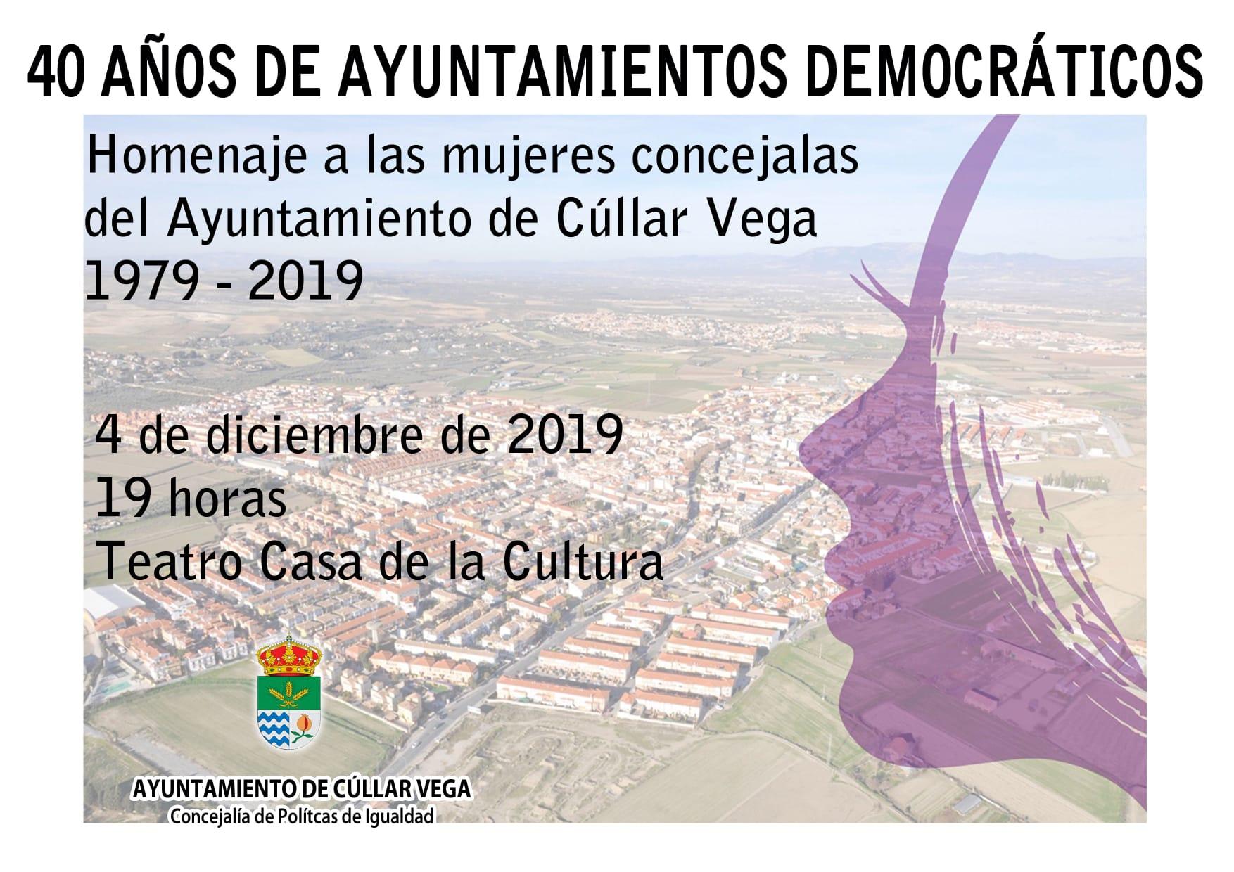 Homenaje a las mujeres concejales del Ayuntamiento de Cúllar Vega 1979-2019