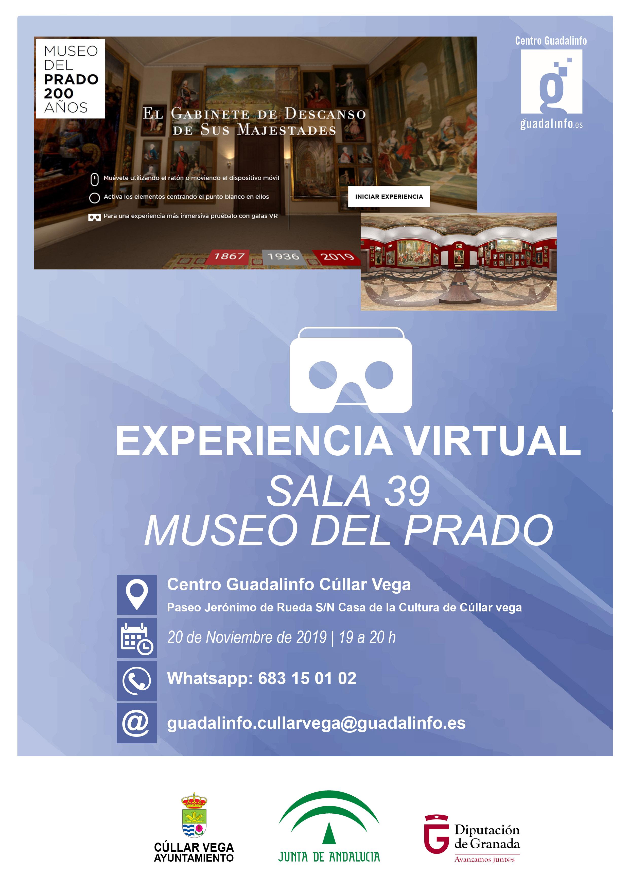 Experiencia virtual sala 39 de El Prado en Guadalinfo