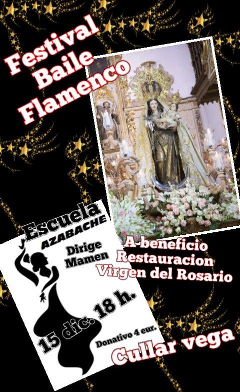 Cúllar Vega acoge un festival de baile para ayudar a restaurar la Virgen del Rosario