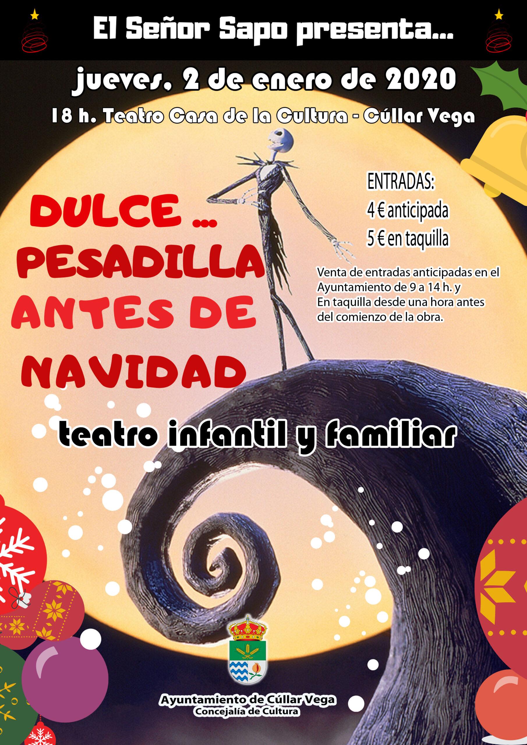 "Teatro infantil ""Dulce…Pesadilla antes de Navidad"""