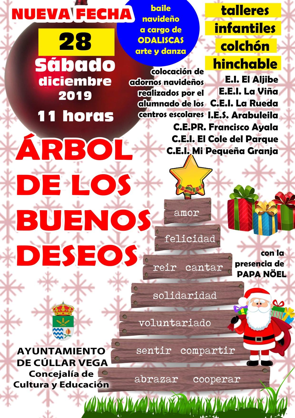 28 de diciembre, nueva fecha para el Árbol de los Buenos Deseos