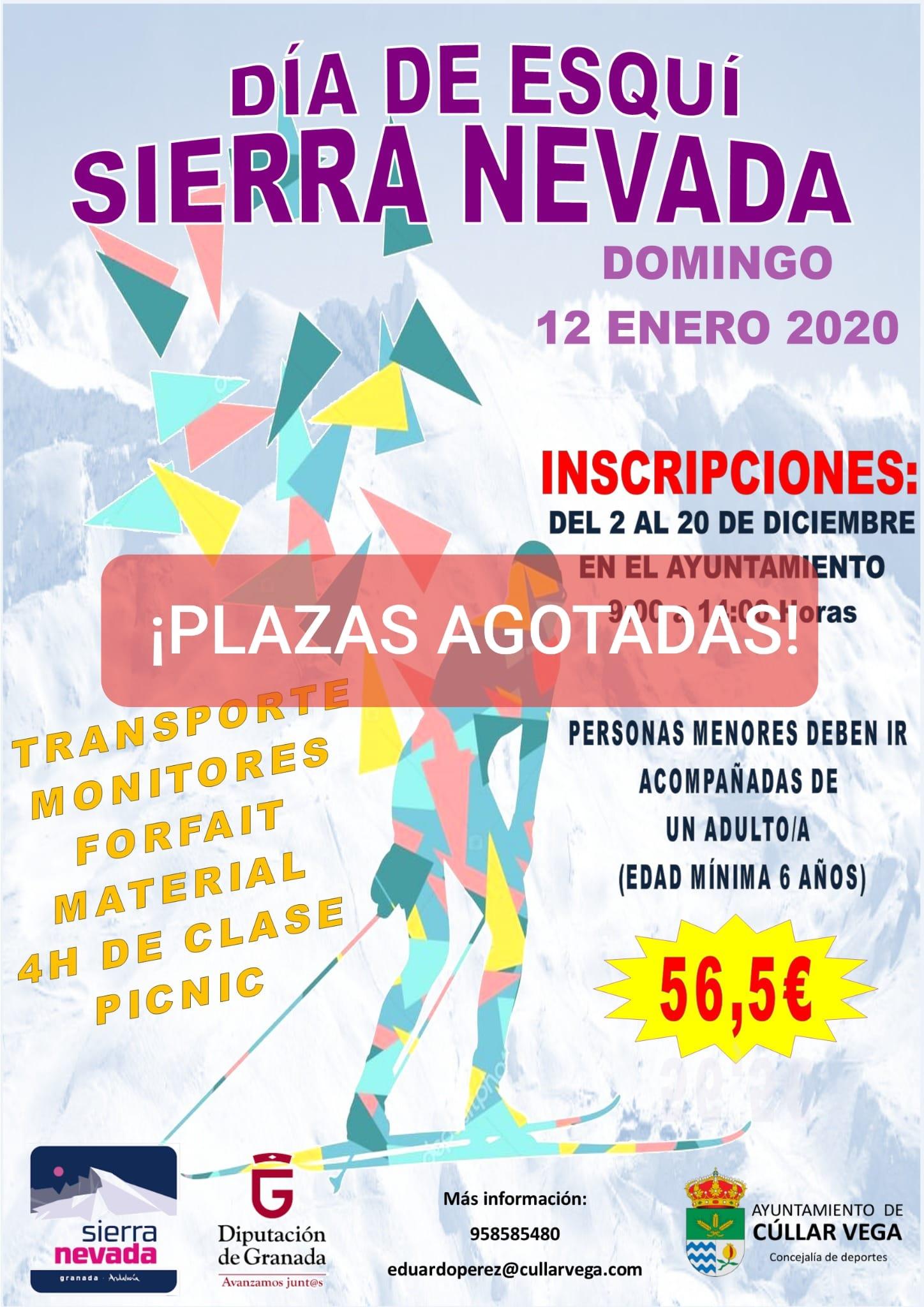 SALIDA DE ESQUÍ A SIERRA NEVADA -12 DE ENERO.