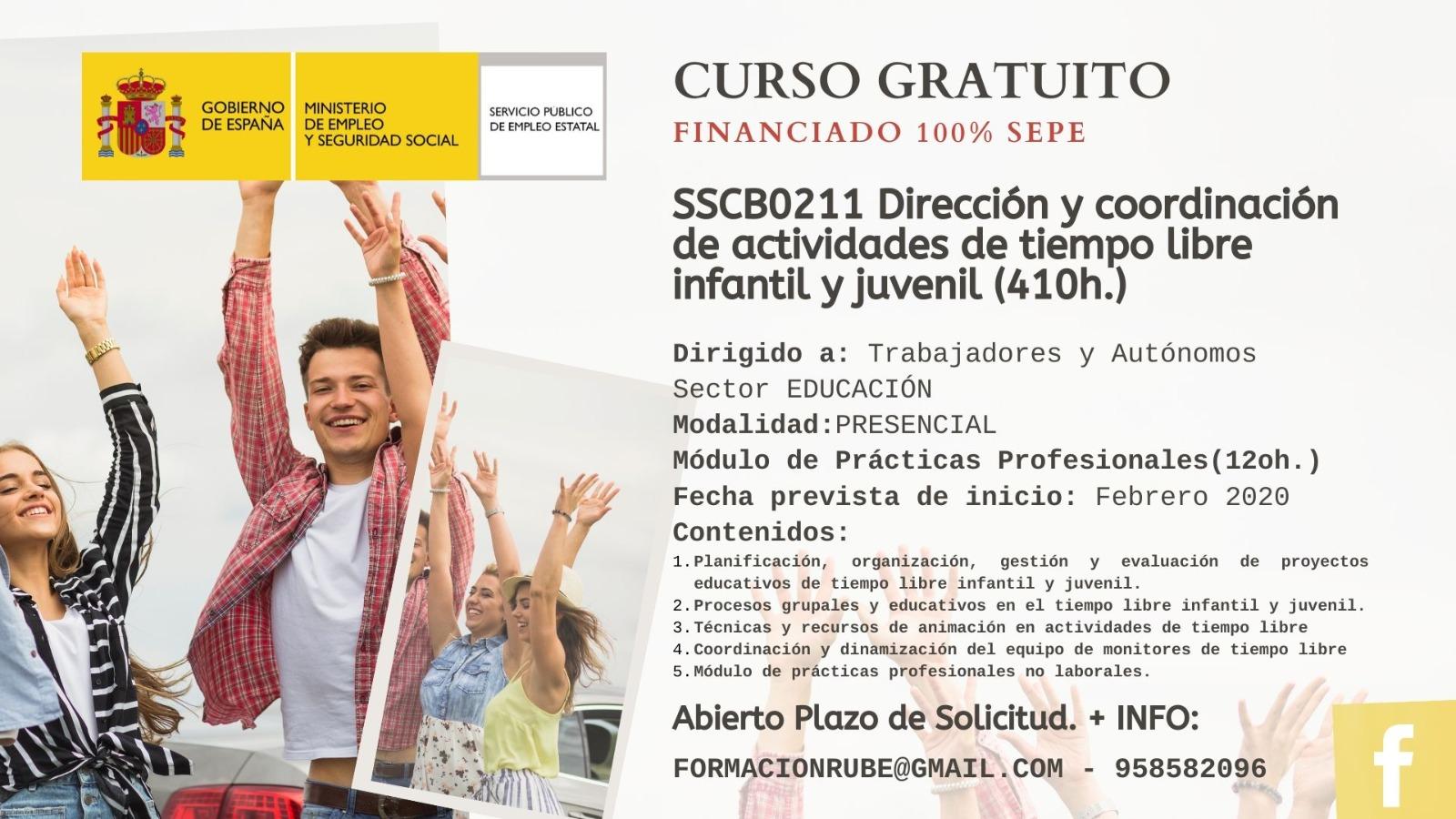 Curso Gratuito de Dirección y Coordinación de Actividades de Tiempo Libre Educativo Infantil y Juvenil