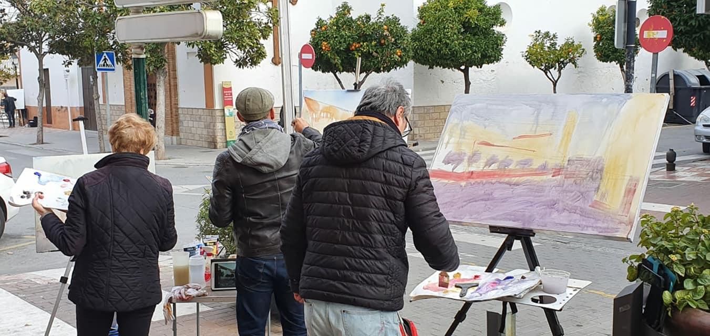 Más de 20 artistas de toda Andalucía participan en el I Concurso de Pintura Rápida de Cúllar Vega